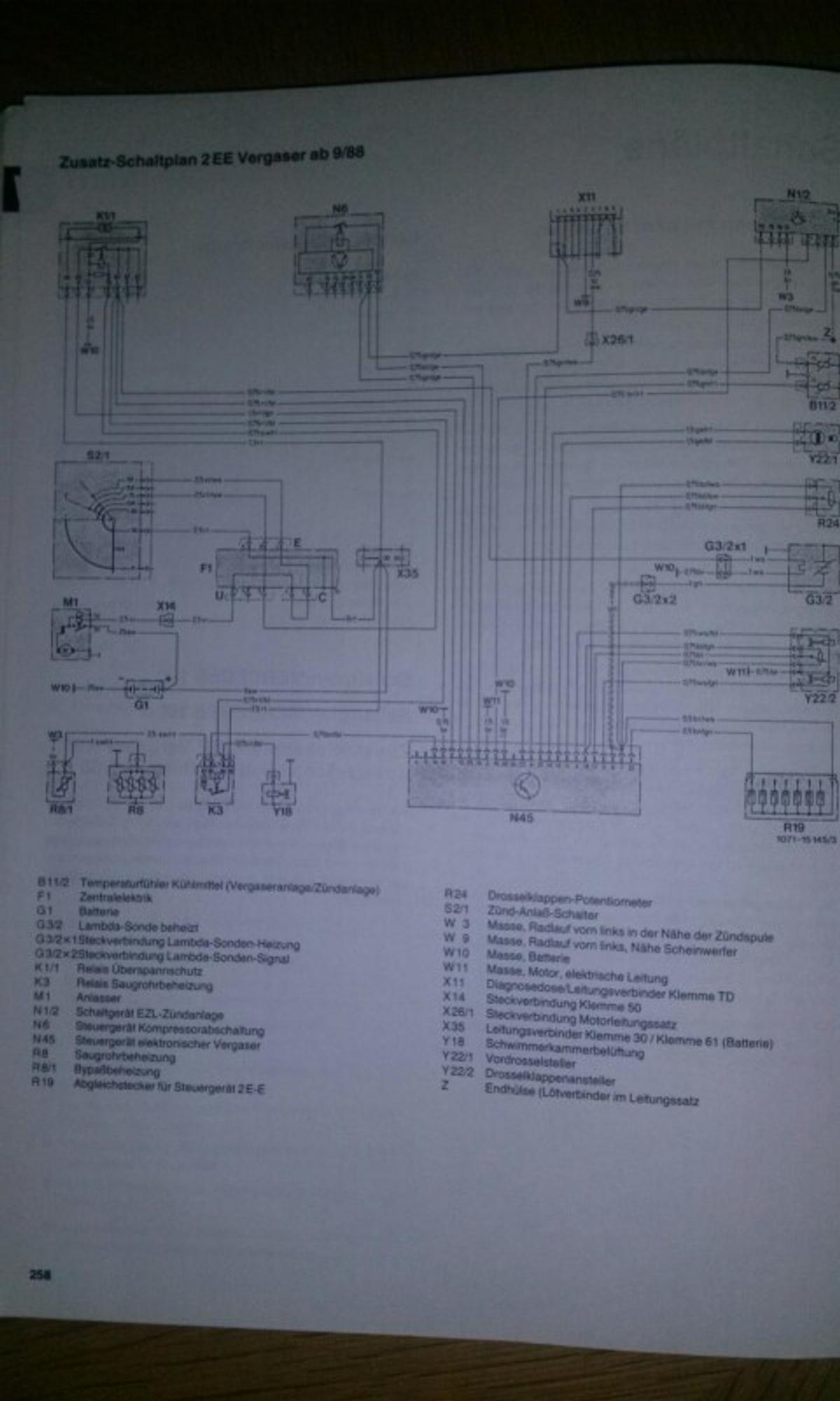 w124 schaltplan anlasser wiring diagram Whelen Light Wiring Diagram