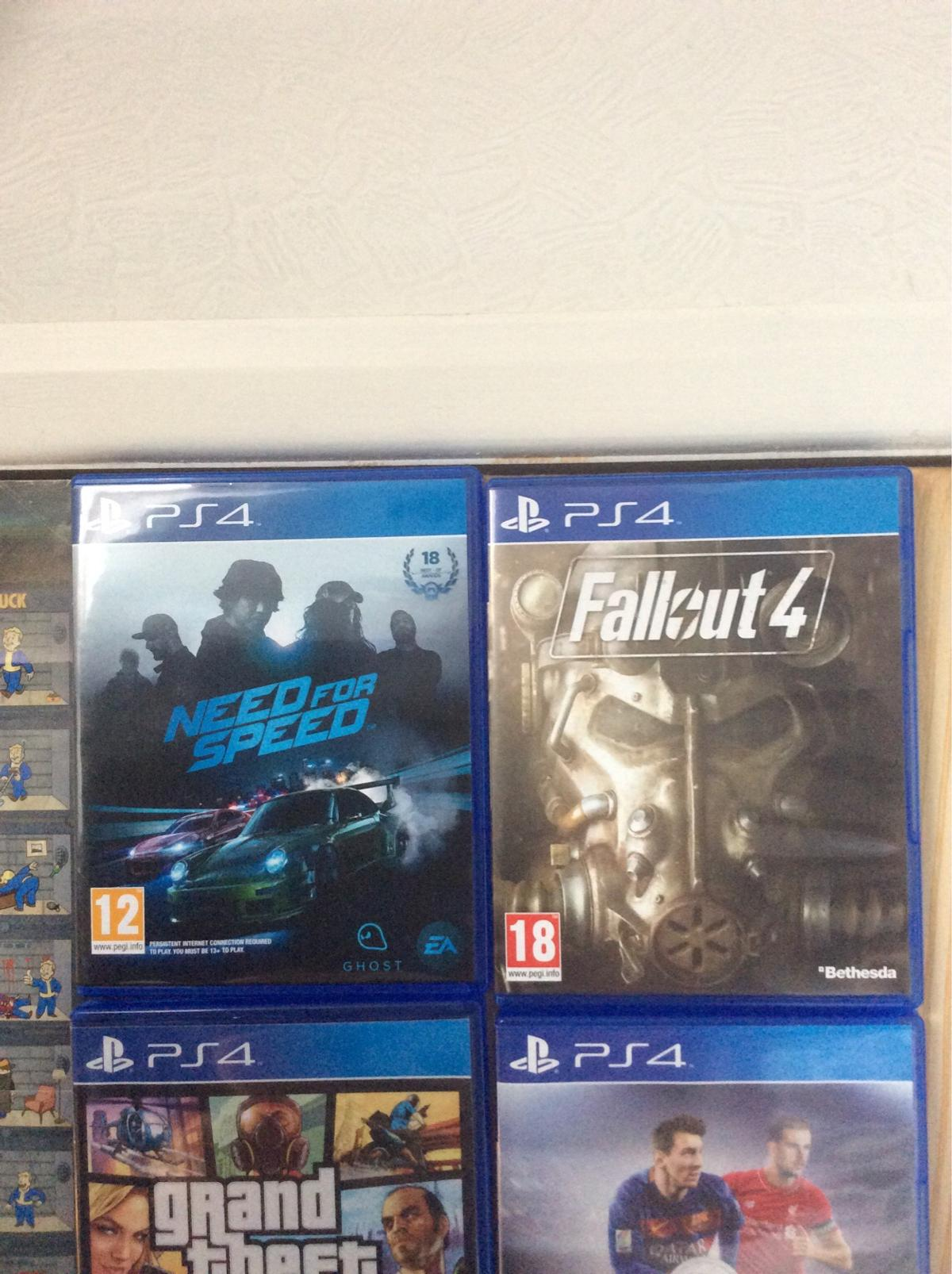 Fallout 4 and need for speed 2015 ps4