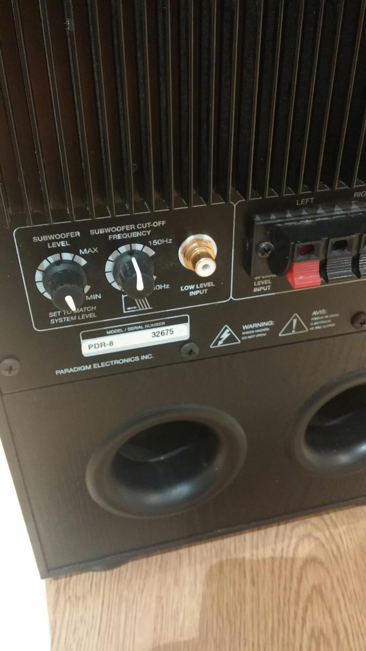 Paradigm pdr-8 subwoofer in DN35 Cleethorpes for £20 00 for