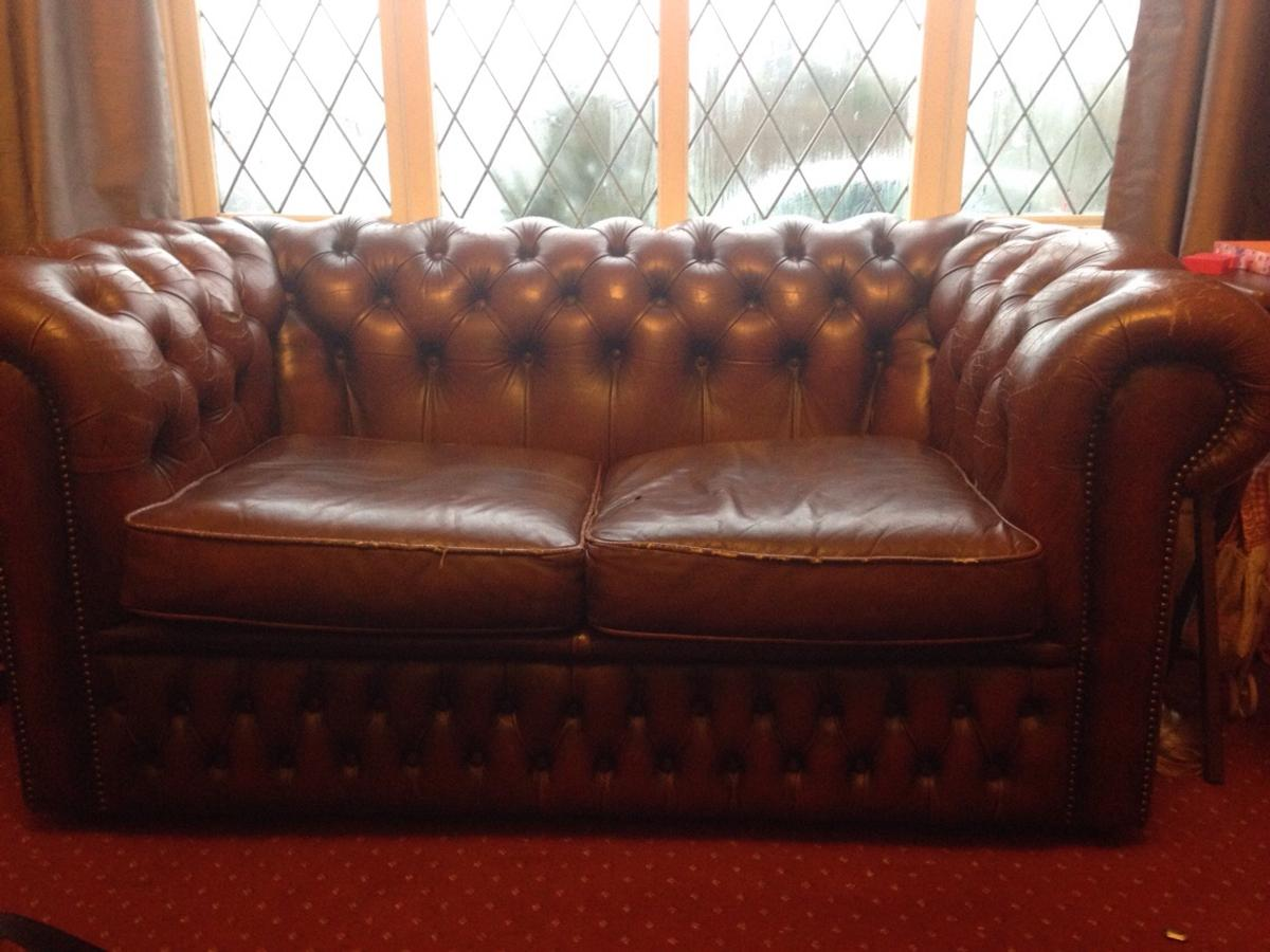 Vintage Chesterfield Sofa 2 Seater