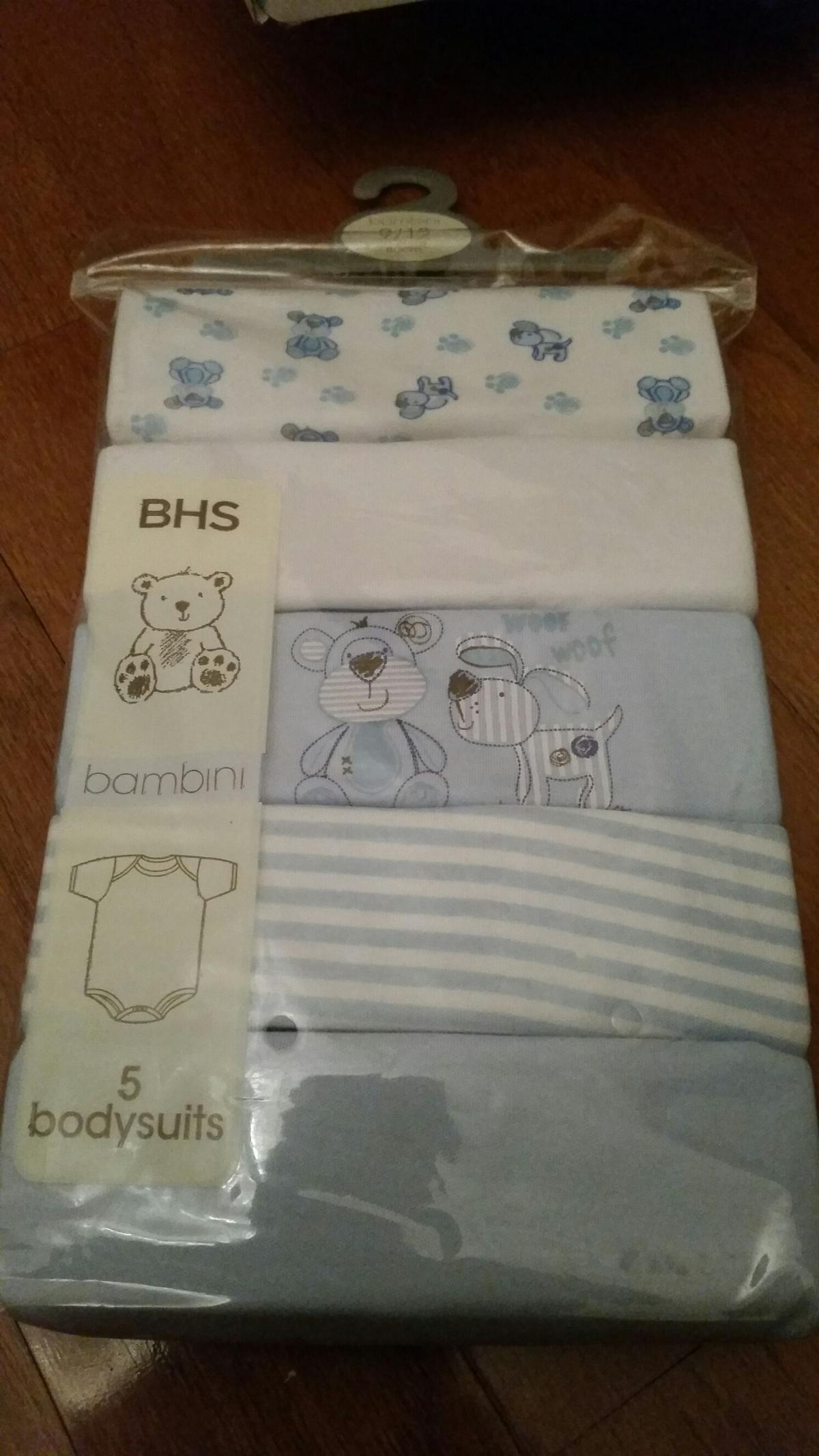 New bhs baby bambini 5 pack bodysuits vest in LE2 Leicester