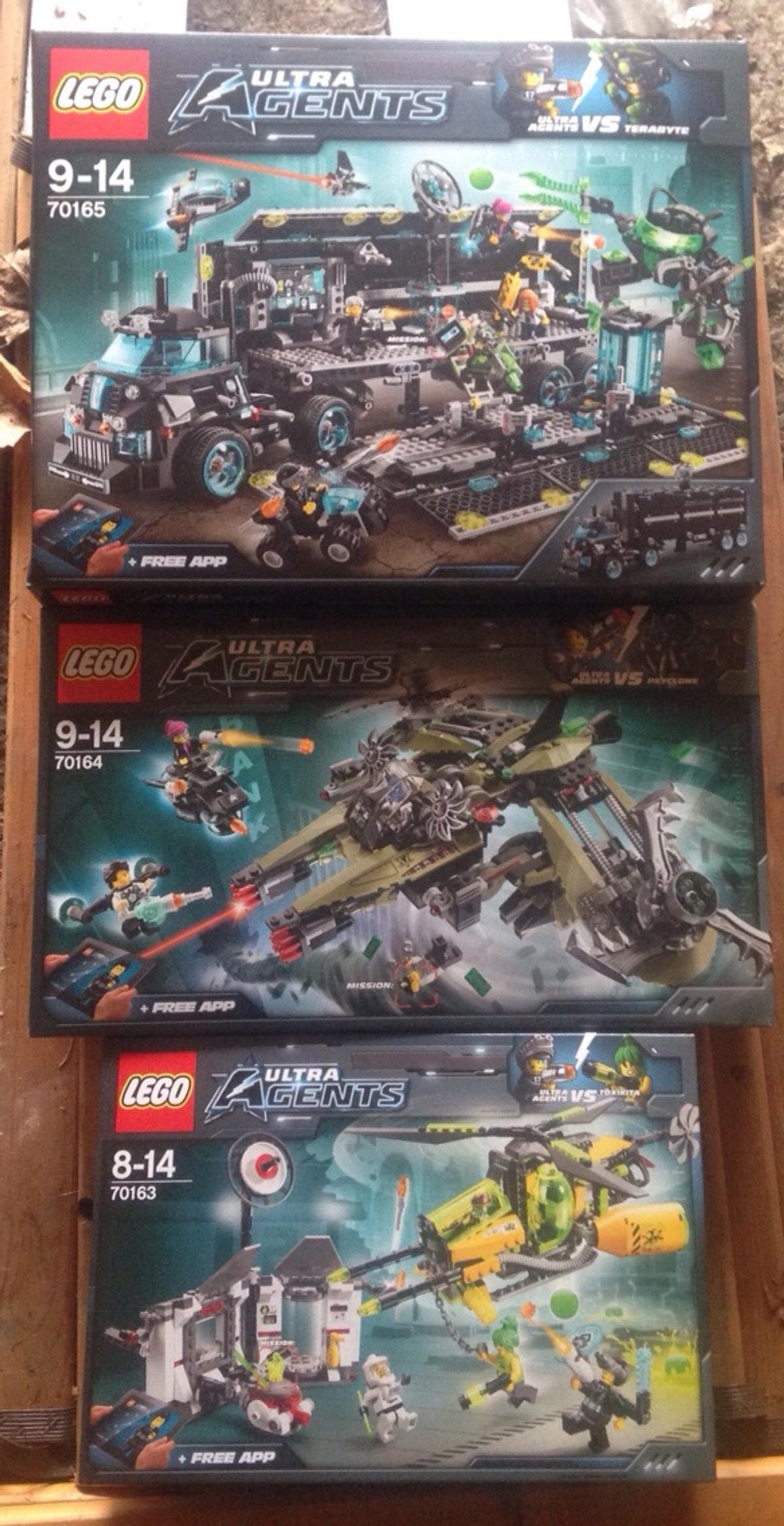 Lego Ultra Agents Sets 70163, 70164 & 70165