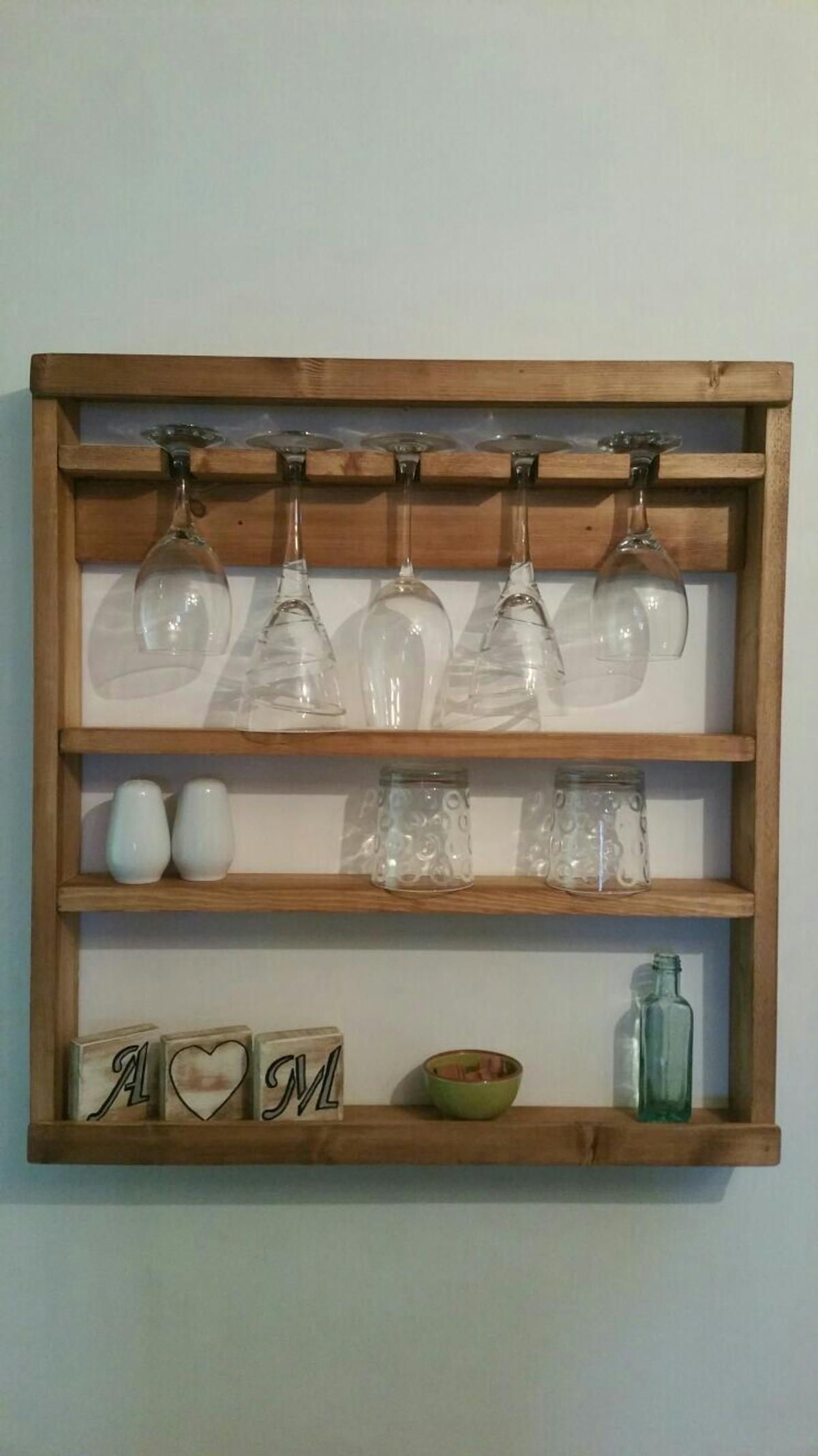 Wooden Wall Mounted Shelving Unit