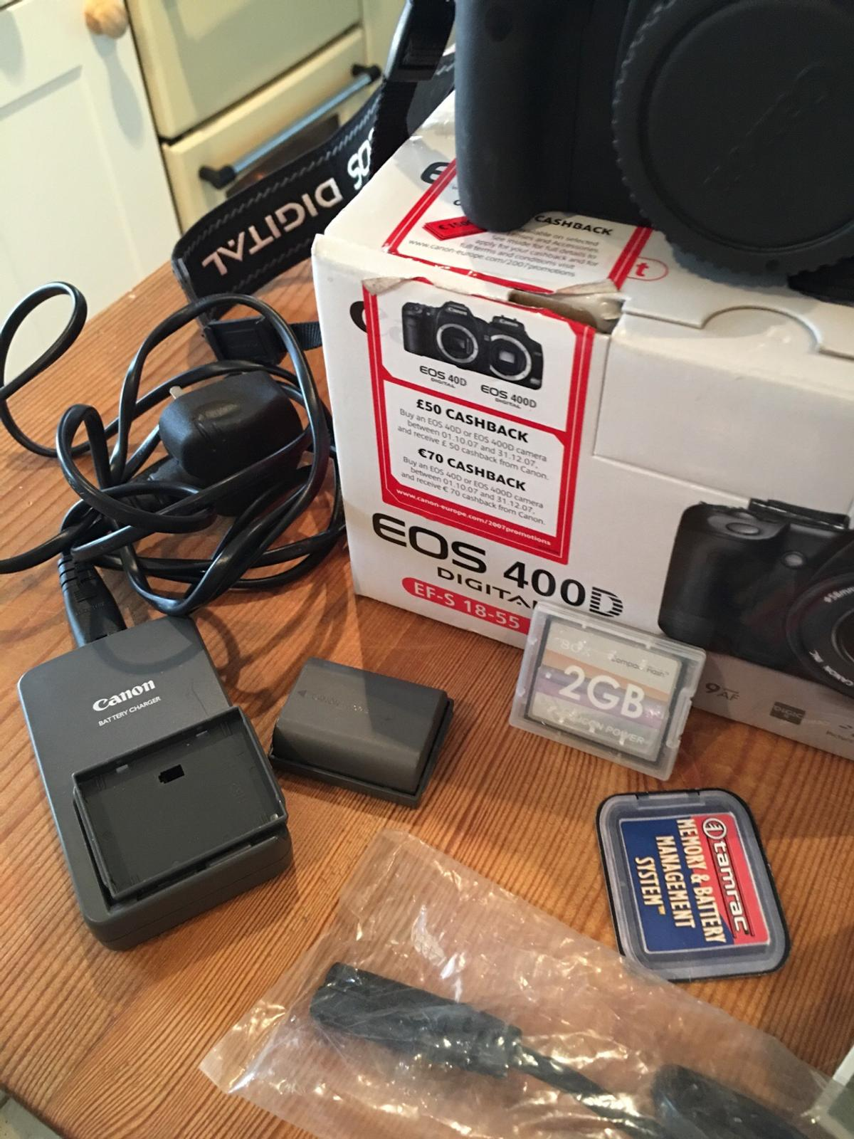 Canon eps 400D camera + extras in DE21 Oakwood for £125 00