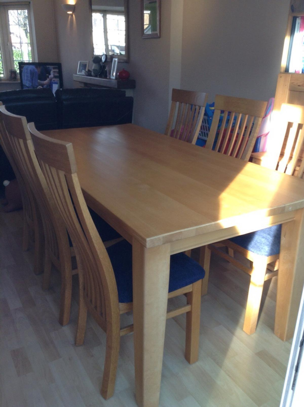 Surprising Solid Beech Dining Table And 6 Chairs Customarchery Wood Chair Design Ideas Customarcherynet