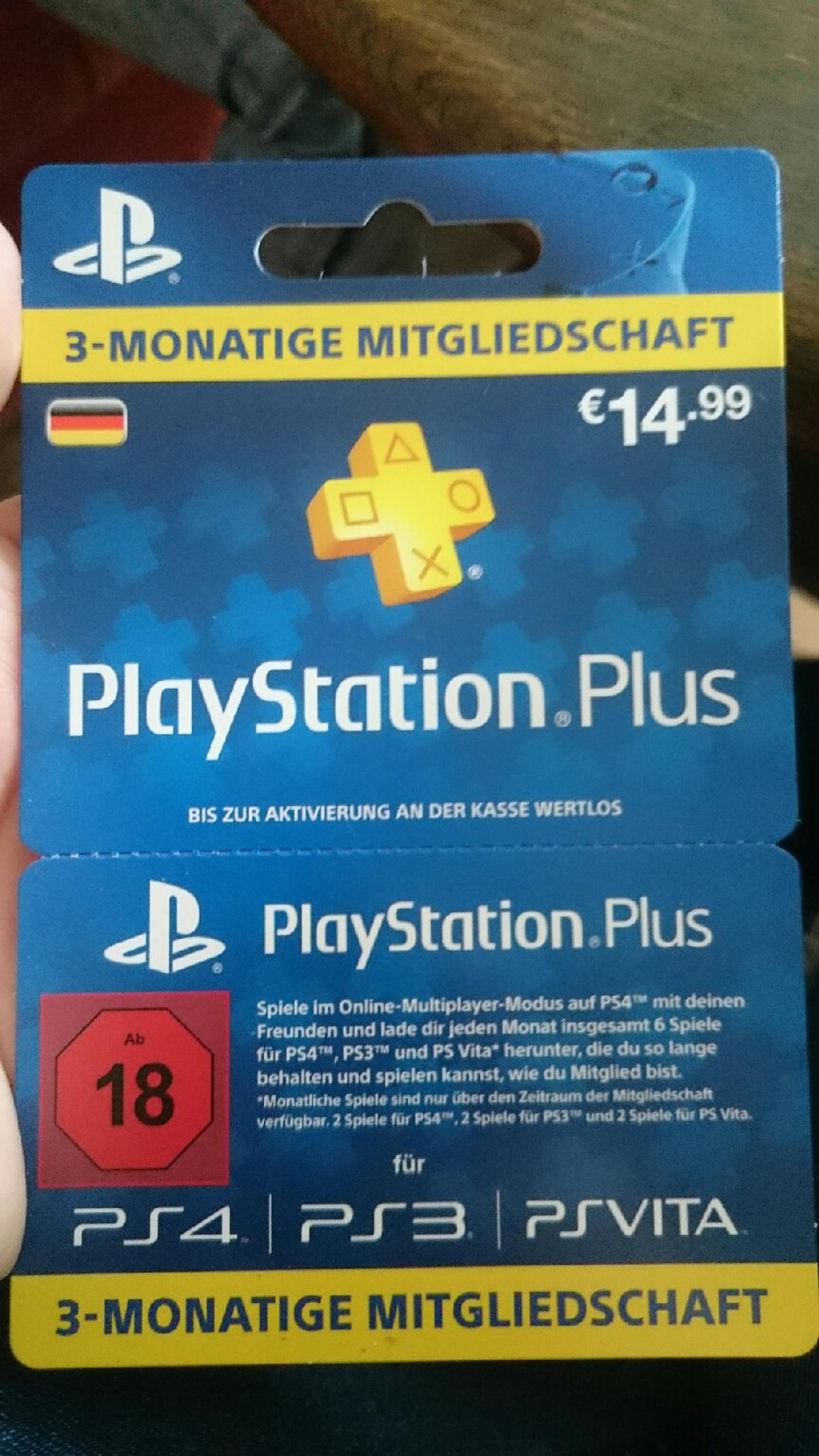 Ps Plus Karte.Playstation Plus Karte