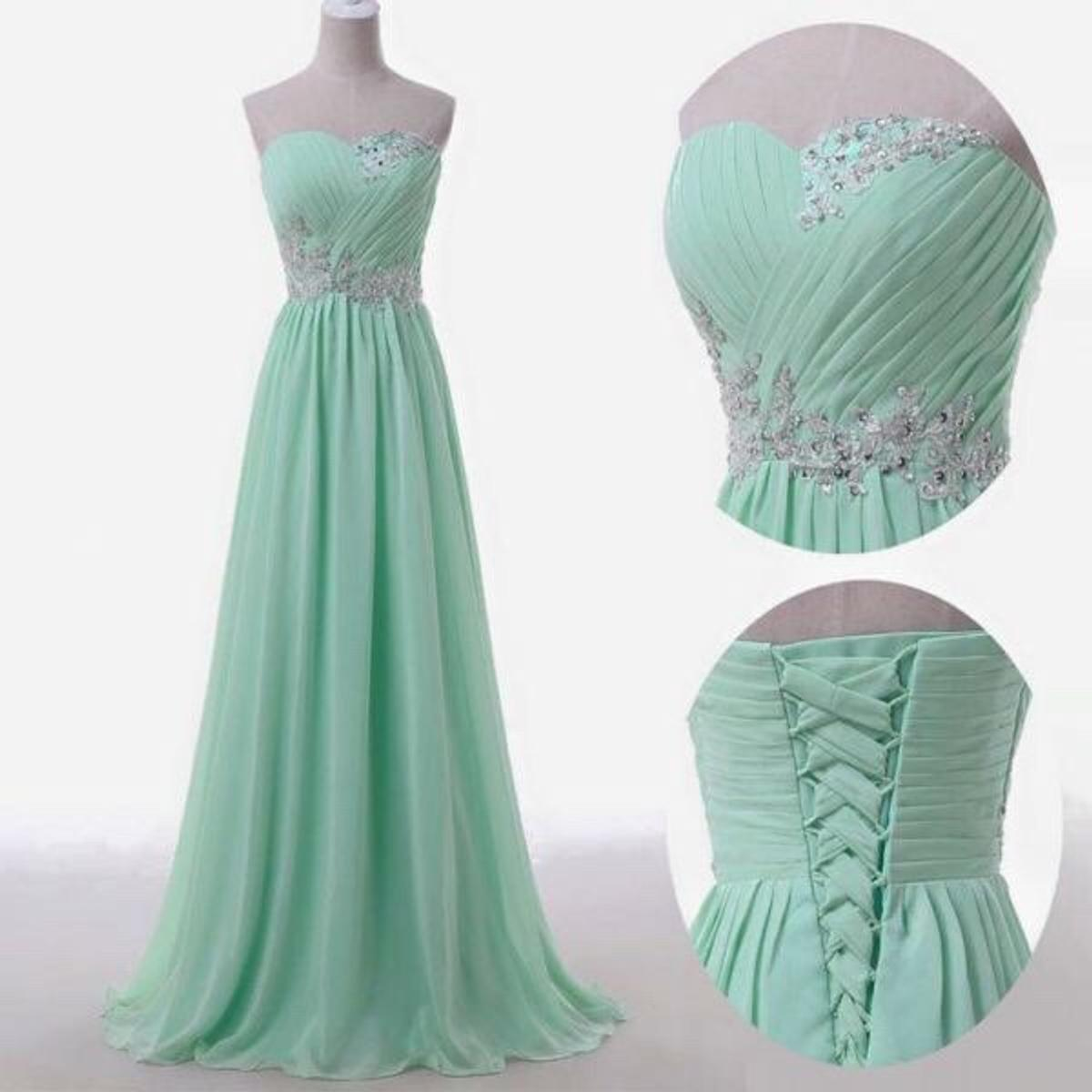 langes Abendkleid Mint