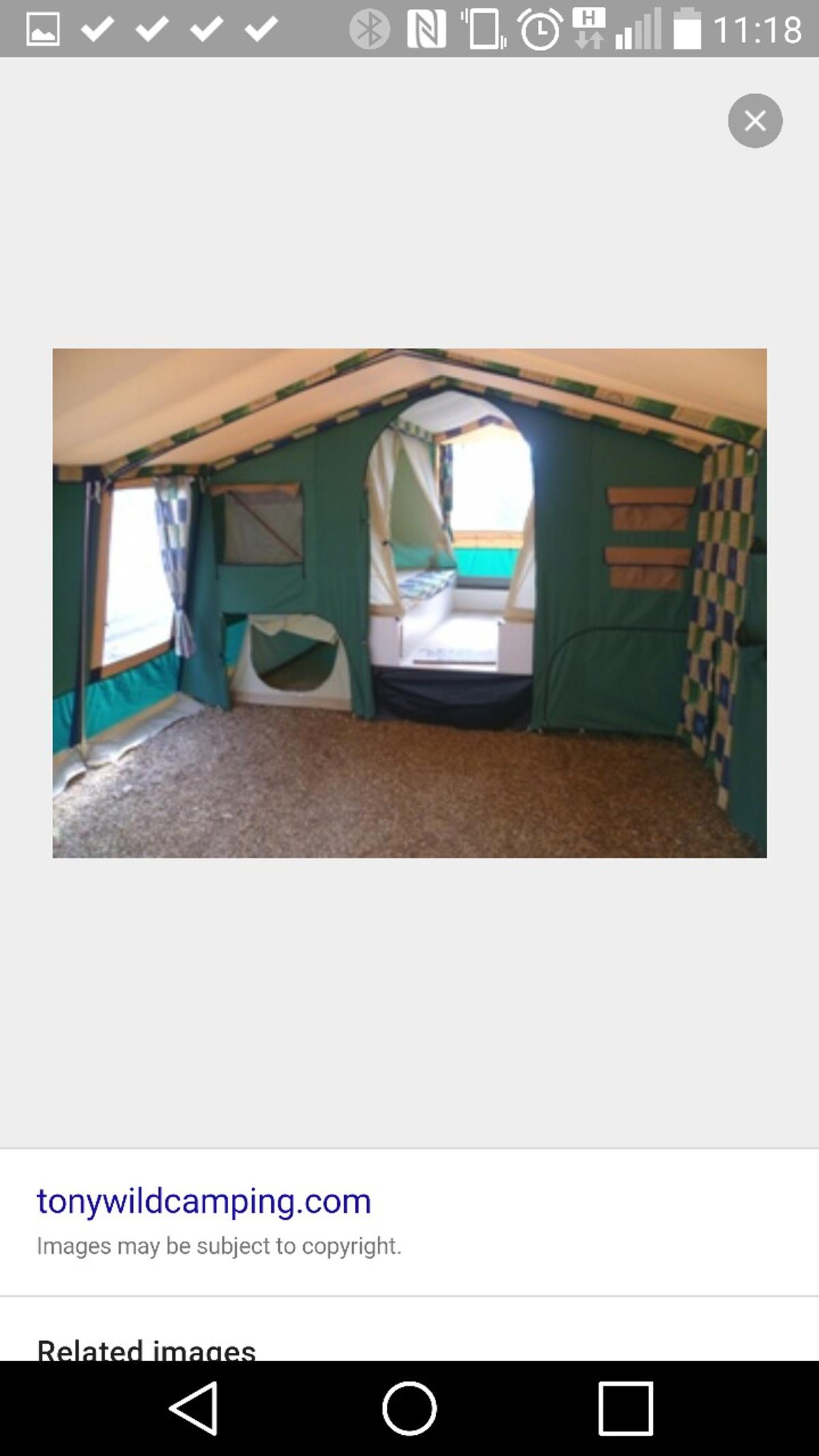 Cabanon saturn trailer tent in Chesterfield for £500 00 for sale