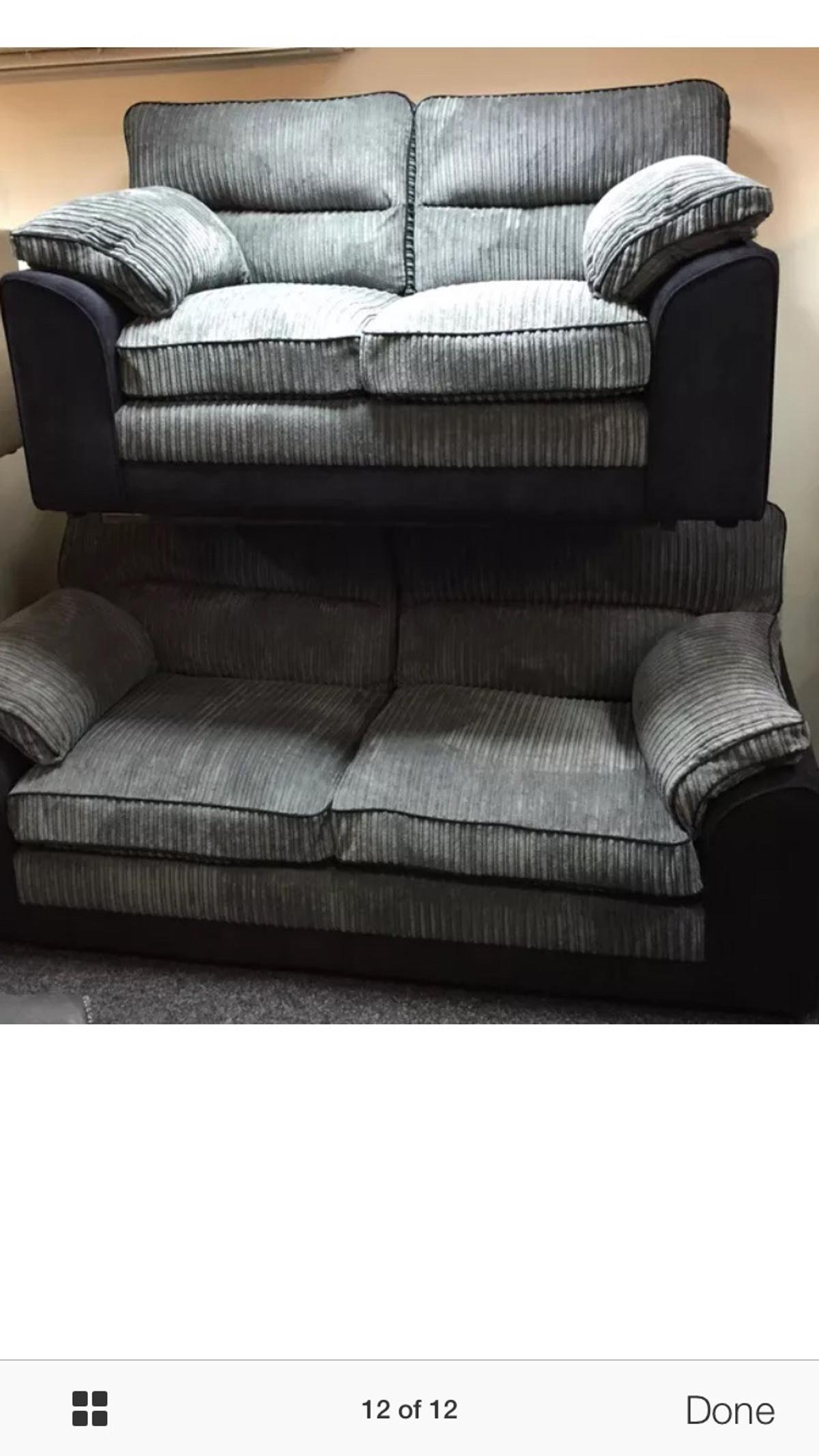Sensational Littlewoods 3 2 Grey And Black Chord Sofa Set In Wf17 Unemploymentrelief Wooden Chair Designs For Living Room Unemploymentrelieforg