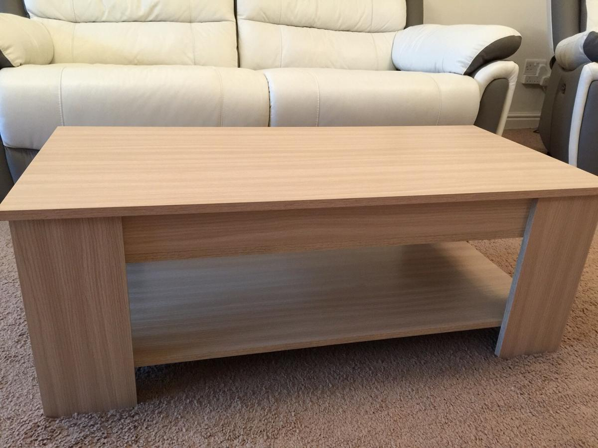 Excellent Brand New Oak Lift Up Coffee Table In S14 North East Download Free Architecture Designs Salvmadebymaigaardcom