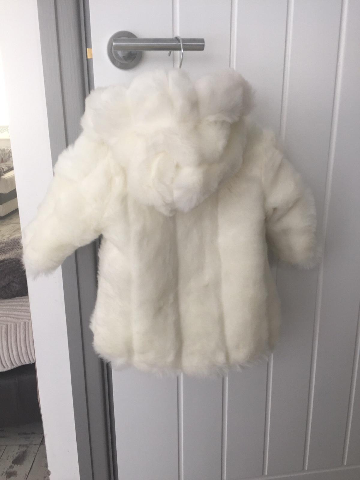 49e3847c643a Baby girl mamas and papas faux fur coat hat in L14 Knowsley for ...