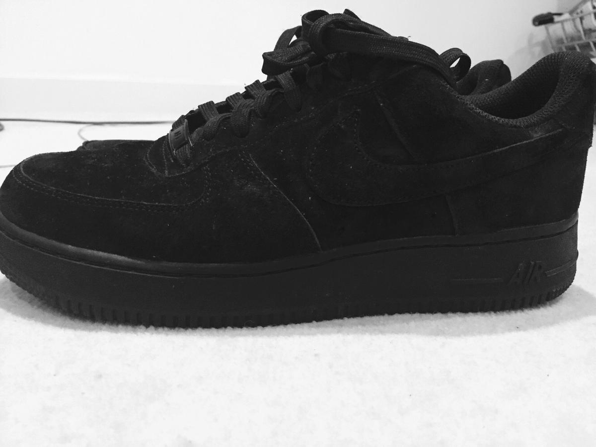 Nike Air Force 1 Black White Suede Gastronomia Y Viajes