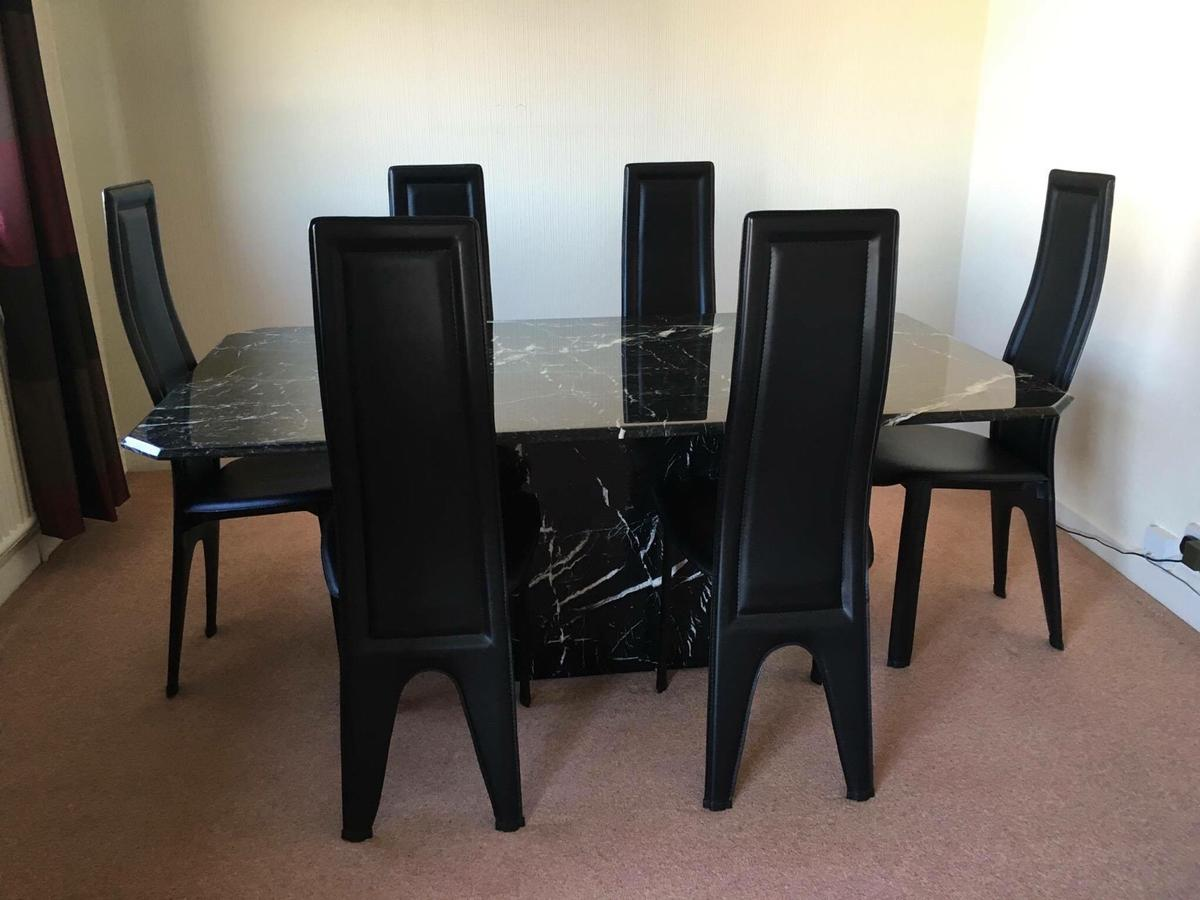 Marble Dining Table With 6 Chairs In Bl9 Bury For 200 00 For Sale Shpock