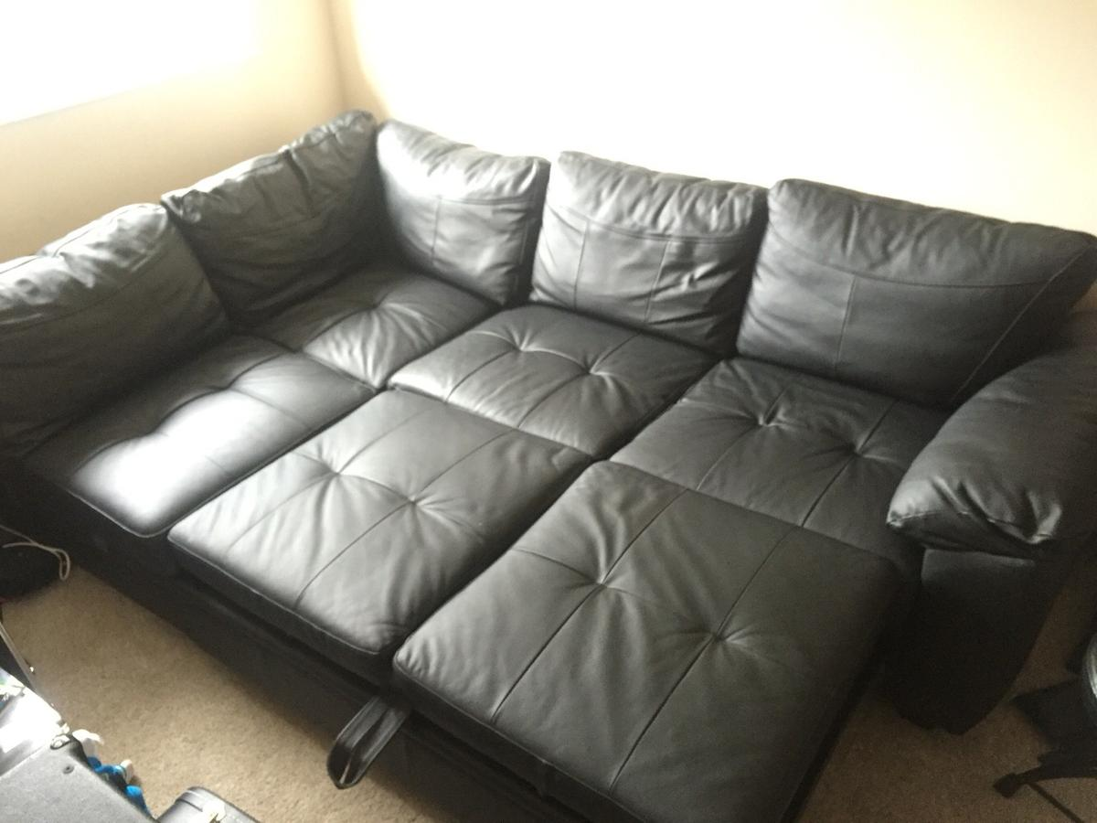 Argos Fernando Leather Left Hand Sofa Bed In Dy8 Dudley For 275 00 For Sale Shpock