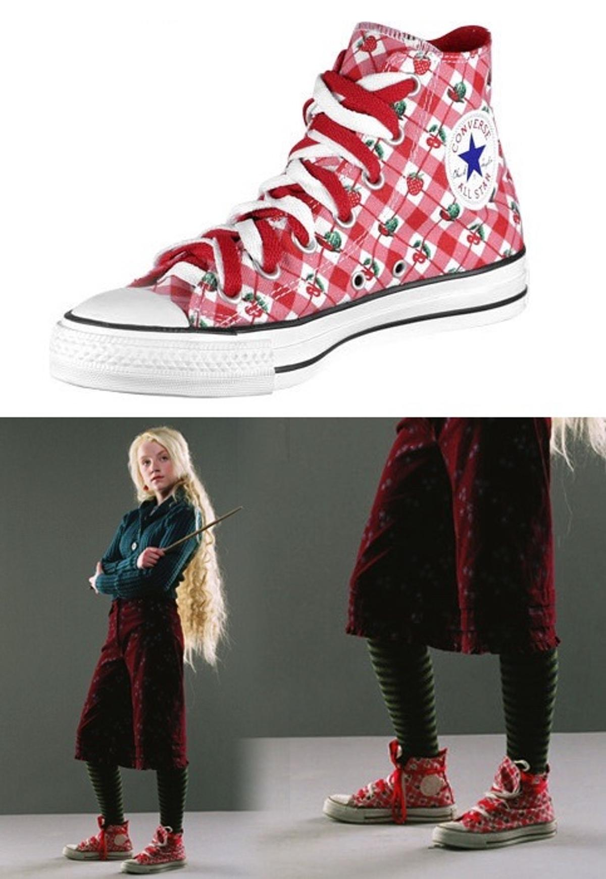 Luna Lovegood Erdbeer Converse Chucks in 29549 Bad Bevensen