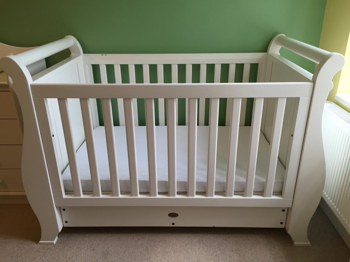 new arrival dd4f8 452ce BOORI country collection white sleigh cot bed in NW11 London ...
