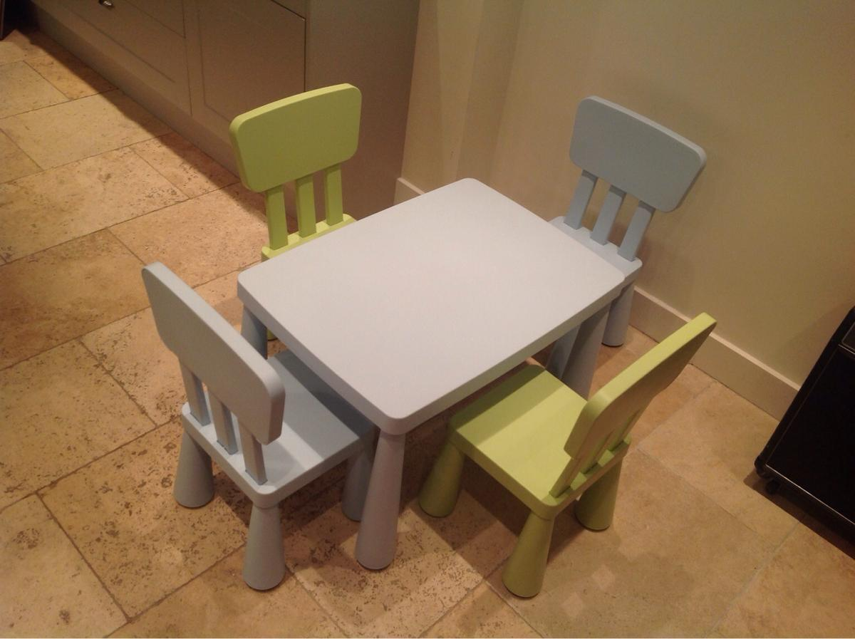 Ikea Mammut Children Table 4 Chairs
