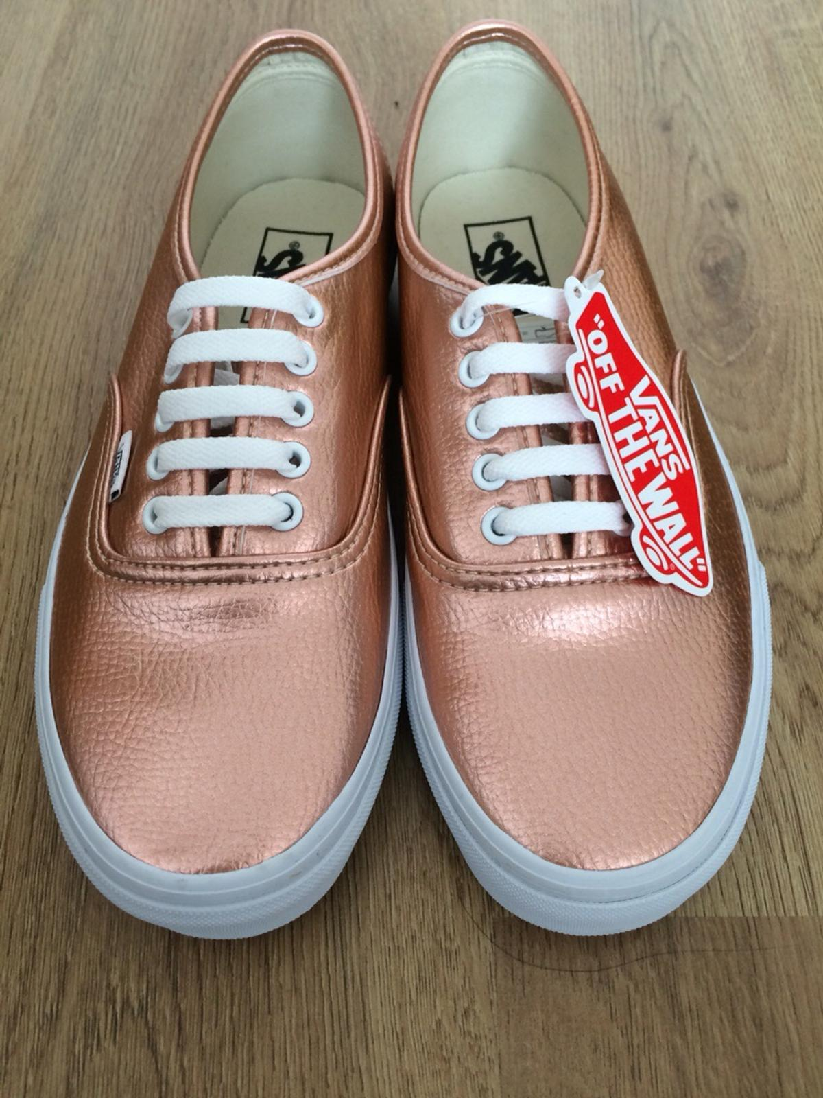 277f0ab48f1 VANS AUTHENTIC Rose Gold Leather SIZE 8 UK in SE1 London for £35.00 ...
