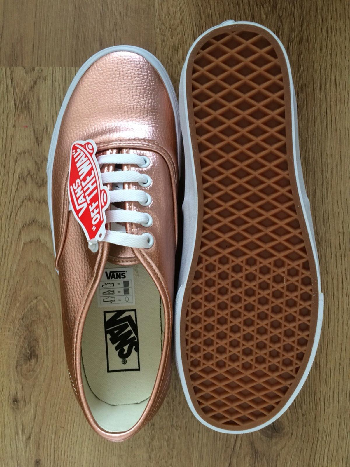 5869c2cc7f VANS AUTHENTIC Rose Gold Leather SIZE 8 UK in SE1 London for £35.00 ...
