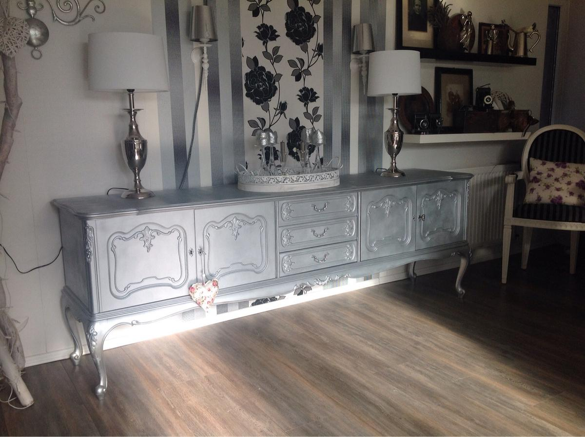 Shabby Kommode Sideboard Anrichte In Silber In 21640 Horneburg For