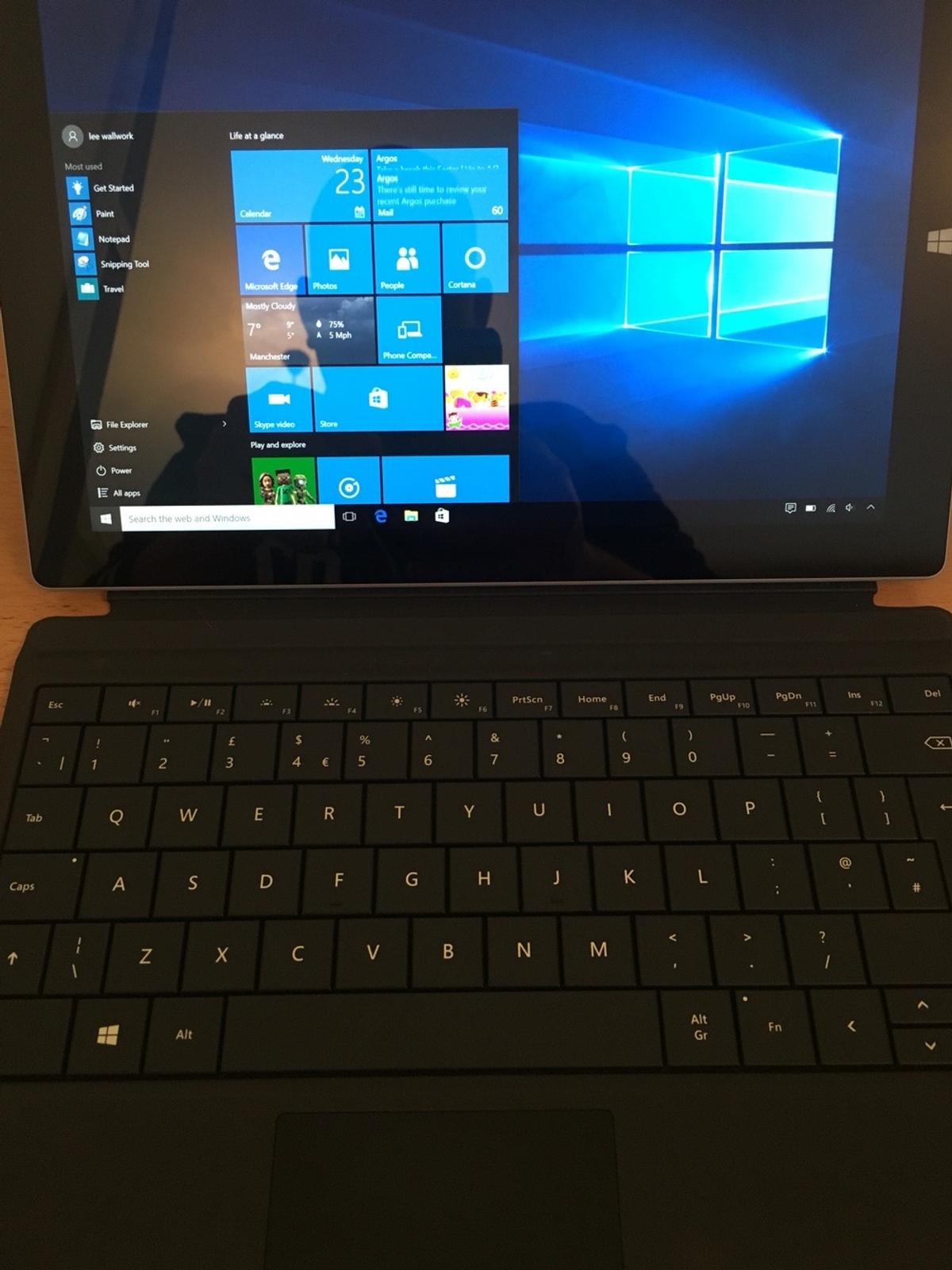 Microsoft surface 3 128gb with type keyboard