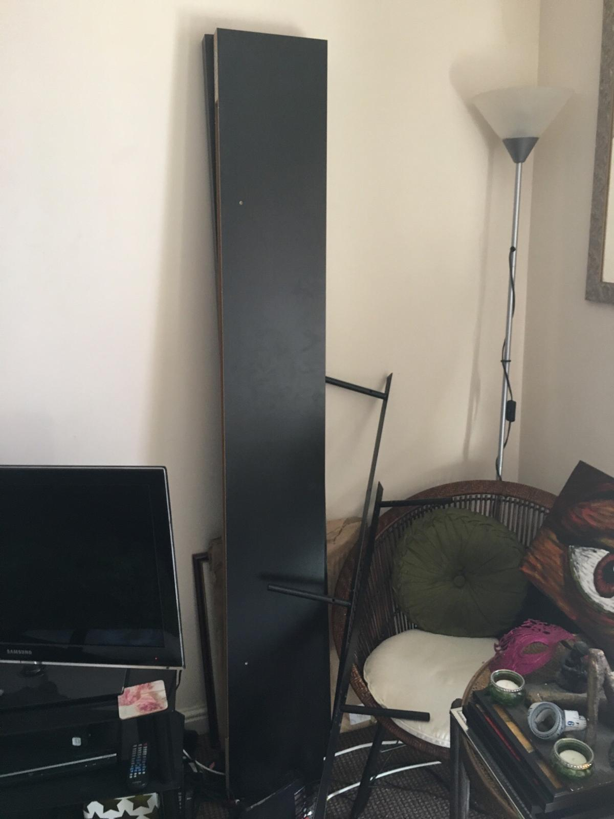 2x Ikea Lack Floating Shelves In Black Brown