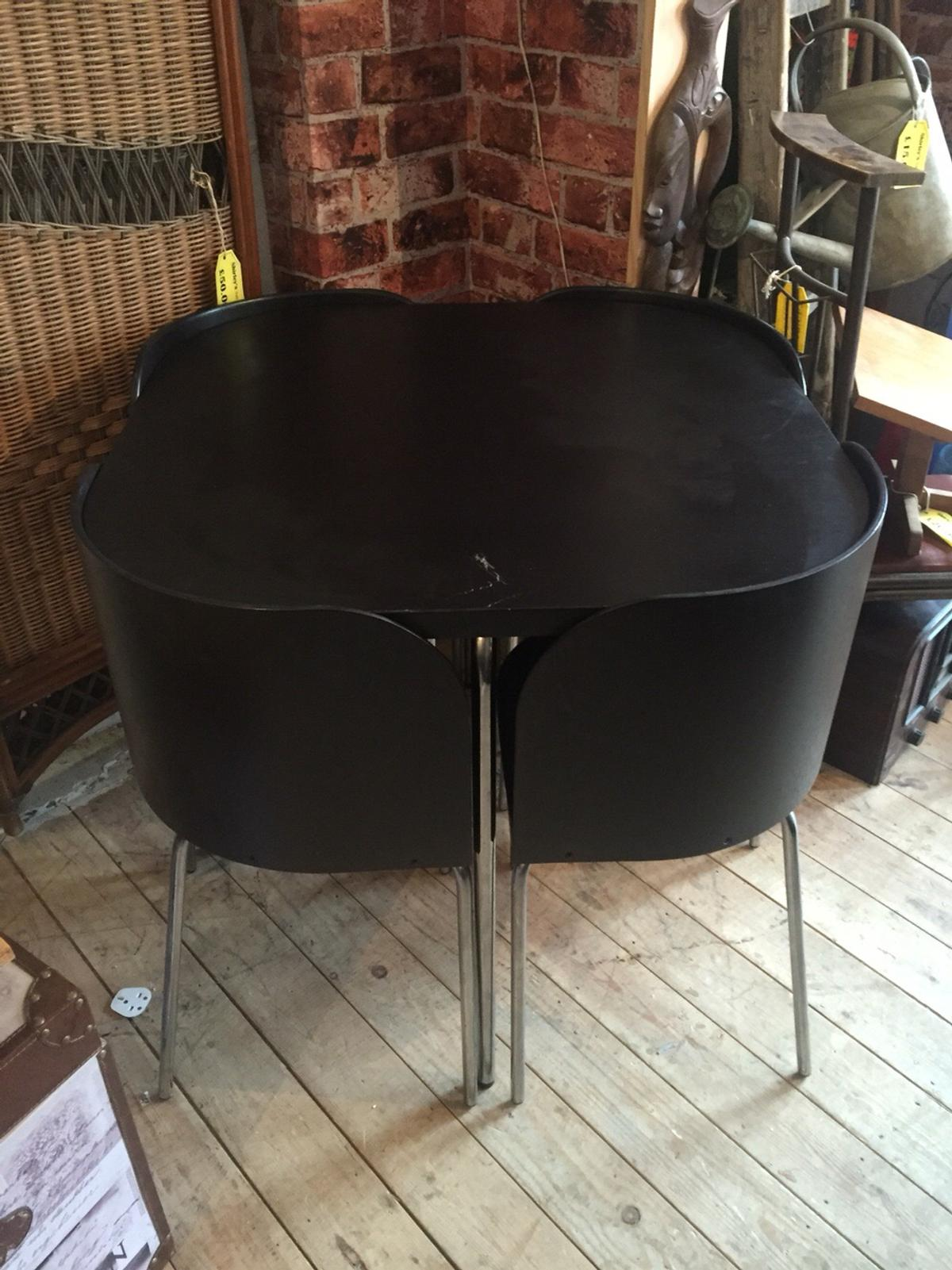 Ikea Fusion Black Table And Chairs In Mk12 Wolverton For