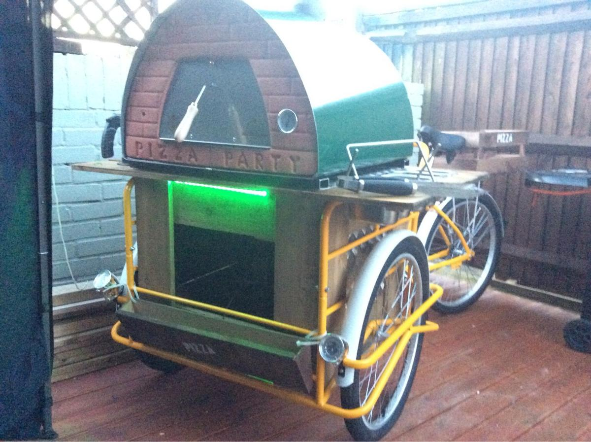 Authentic Woodfired Pizza Trike Hire
