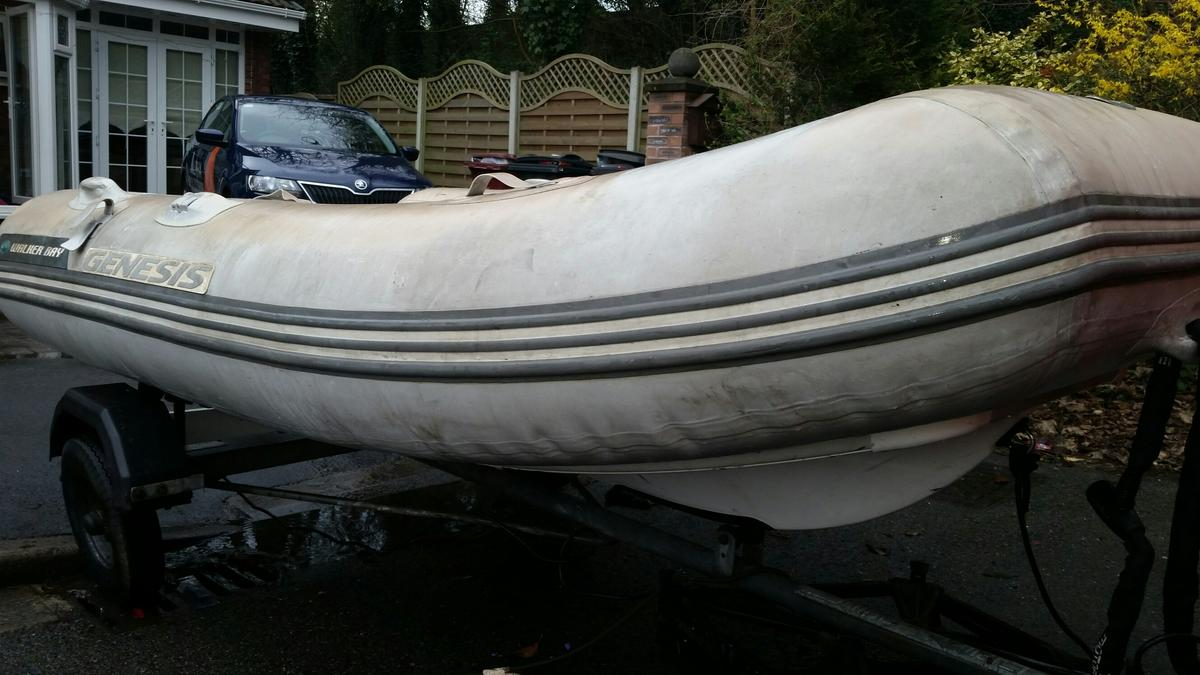 Rib inflatable boat Inc 8 hp outboard engine in WA6 Frodsham