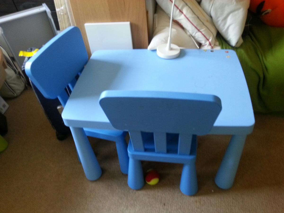 Children S Ikea Mammut Blue Table 2 Chairs In Se15 London For 22 00 For Sale Shpock