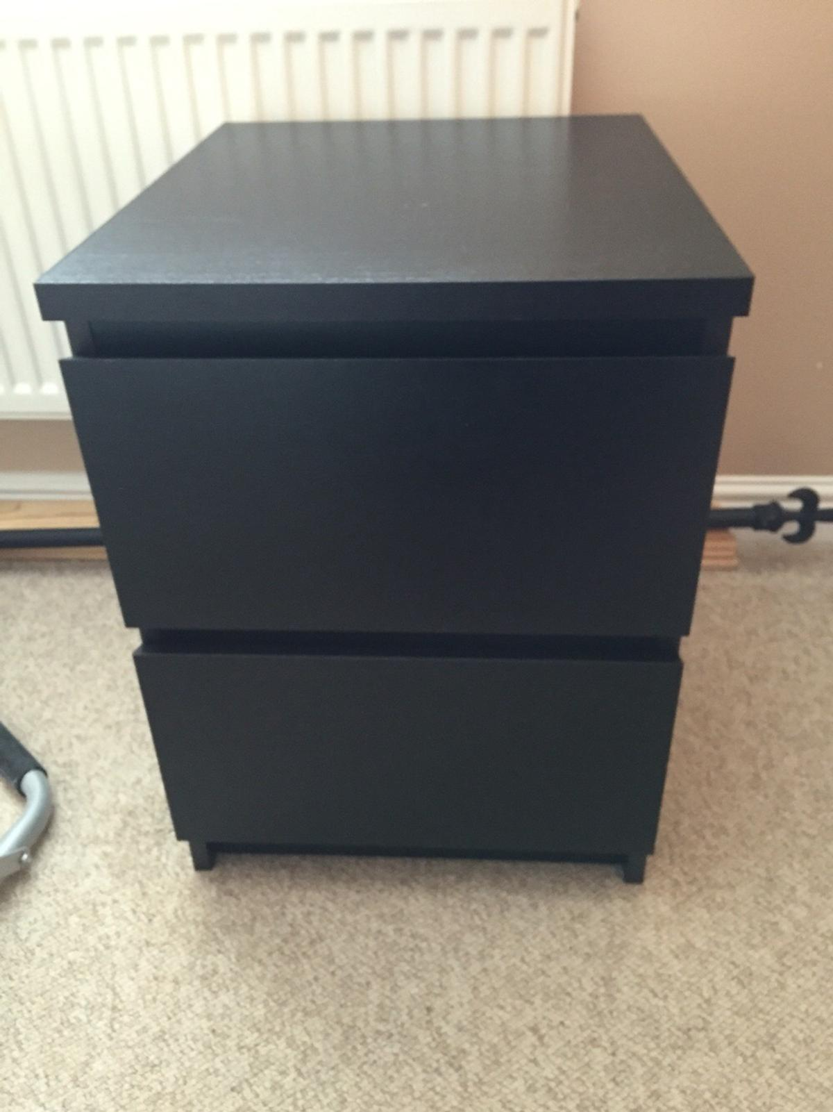 Marvelous Black Ikea Malm Bedside Table Download Free Architecture Designs Crovemadebymaigaardcom