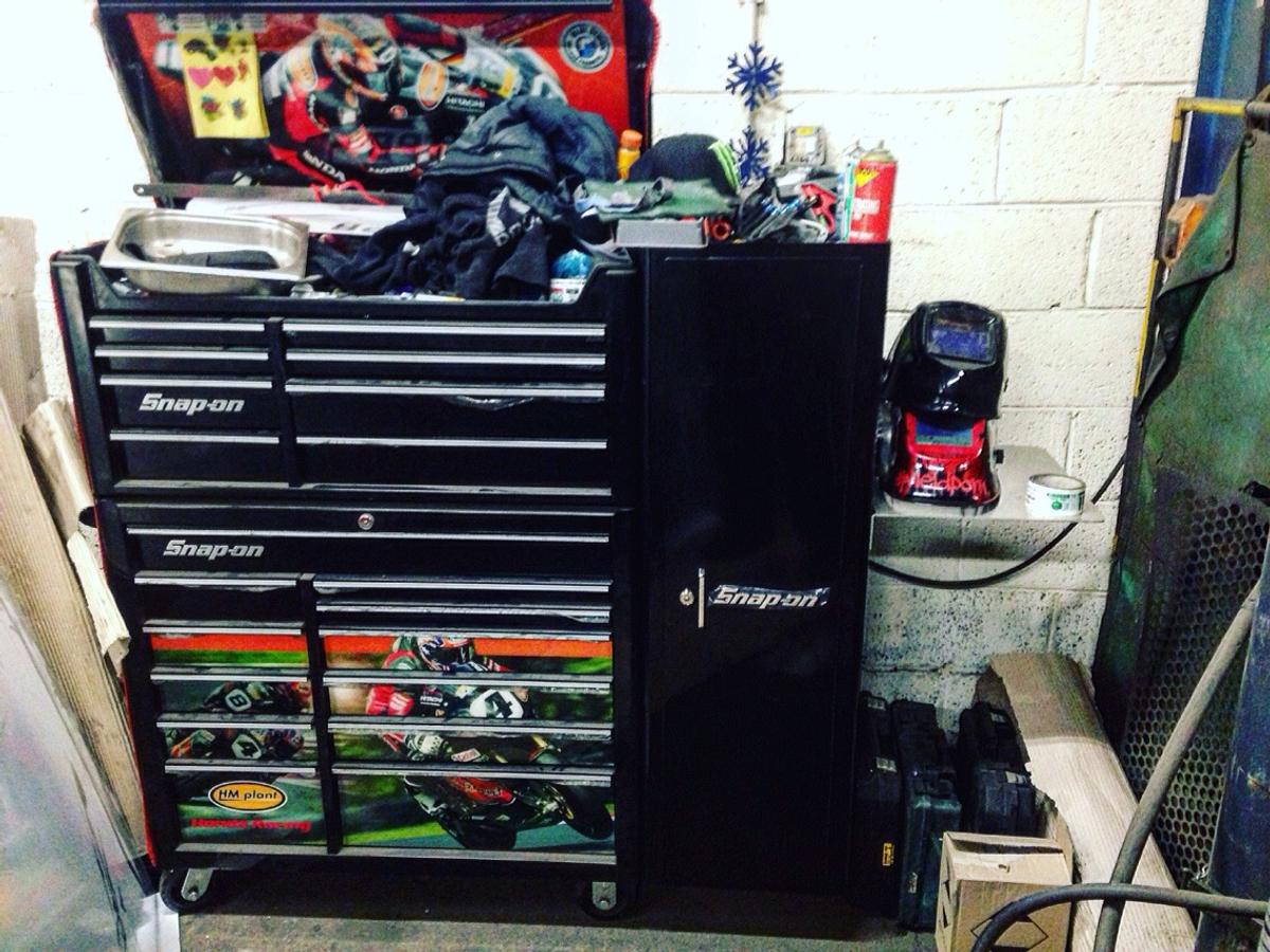 Snap on tools and tool box cover