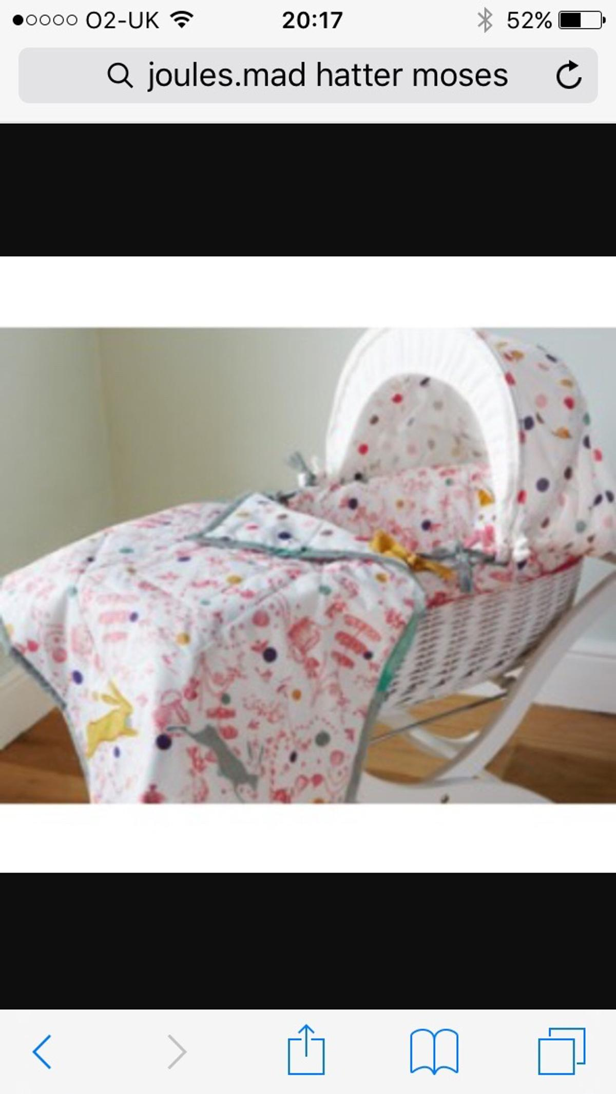 Stand New Isabella Alicia Blue Double Border Designer Baby wicker moses basket