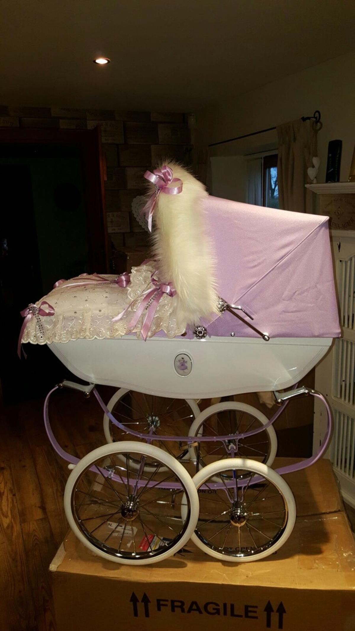 3cab8b9669c7 Lilac snow fairy silver cross dolls pram in Doncaster for £400.00 ...