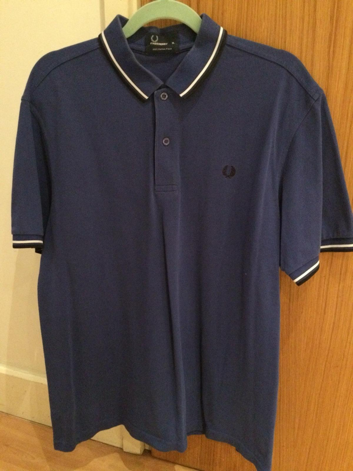 5e2bce771 XL blue Fred Perry polo shirt men's in M1 Manchester for £10.00 for ...