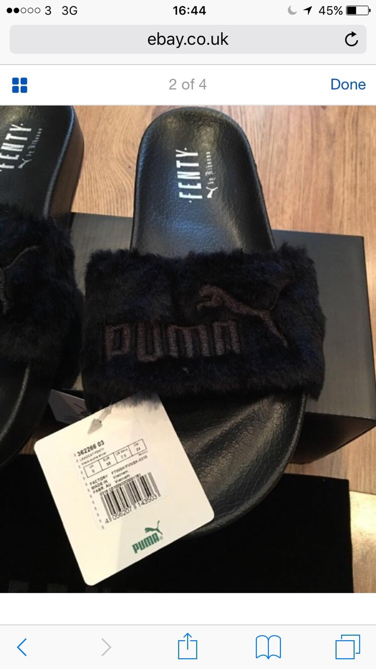 official photos 28f5a 929a2 Puma Fenty Fur Slide -Black Size 5 in SE4 London for £159.99 ...