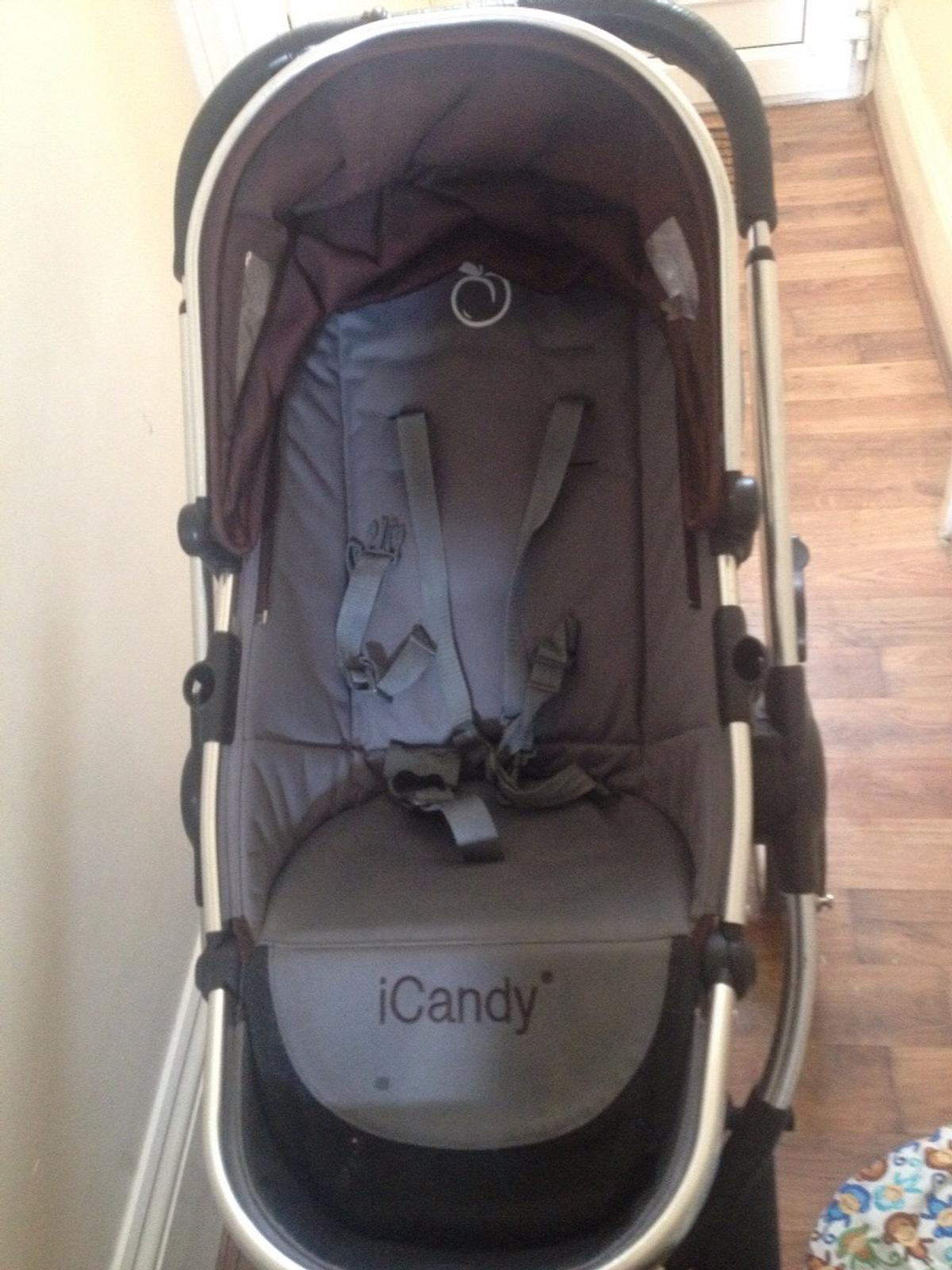 iCandy Peach Main Seat Unit In Black Jack Brown /& Grey
