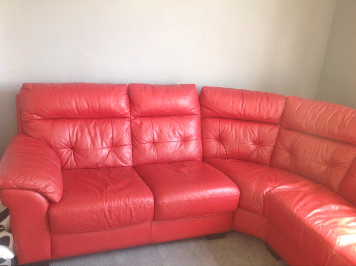 DFS red leather corner sofa in SL6 Maidenhead for £400.00 for sale ...