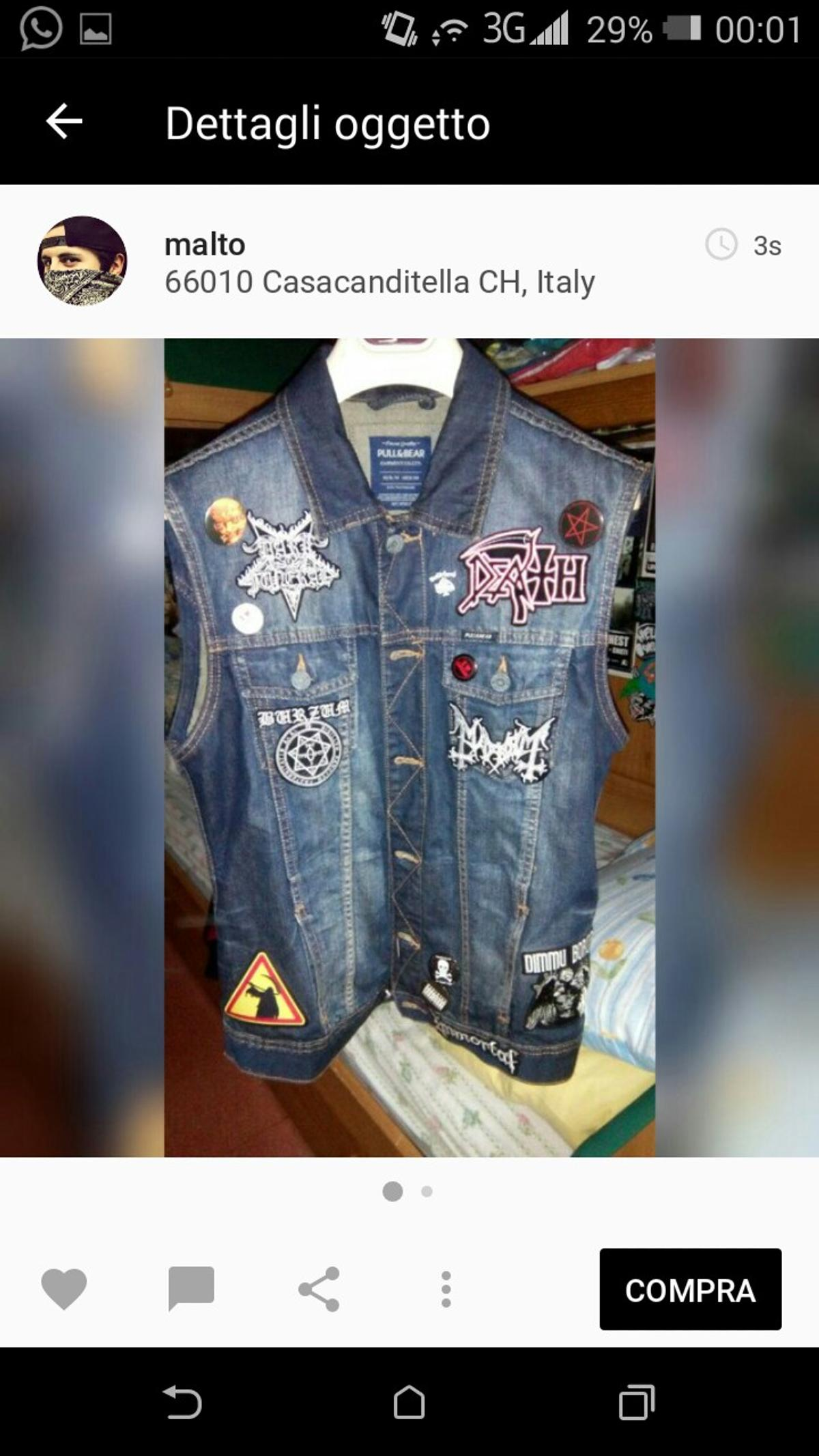 giacca jeans con toppe metal