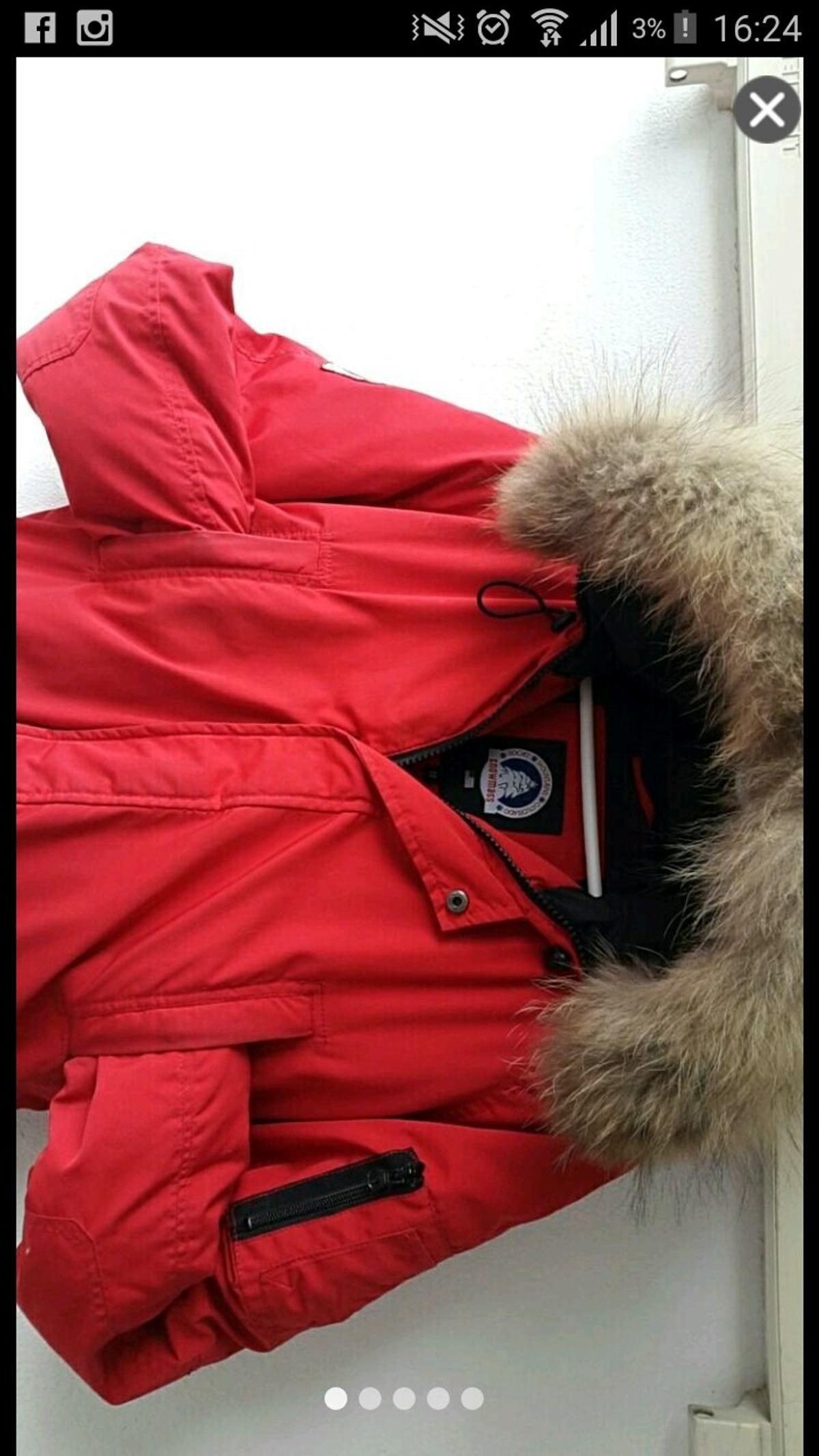 Snowmass Jacke rot M Canada Goose ähnlich in 40595