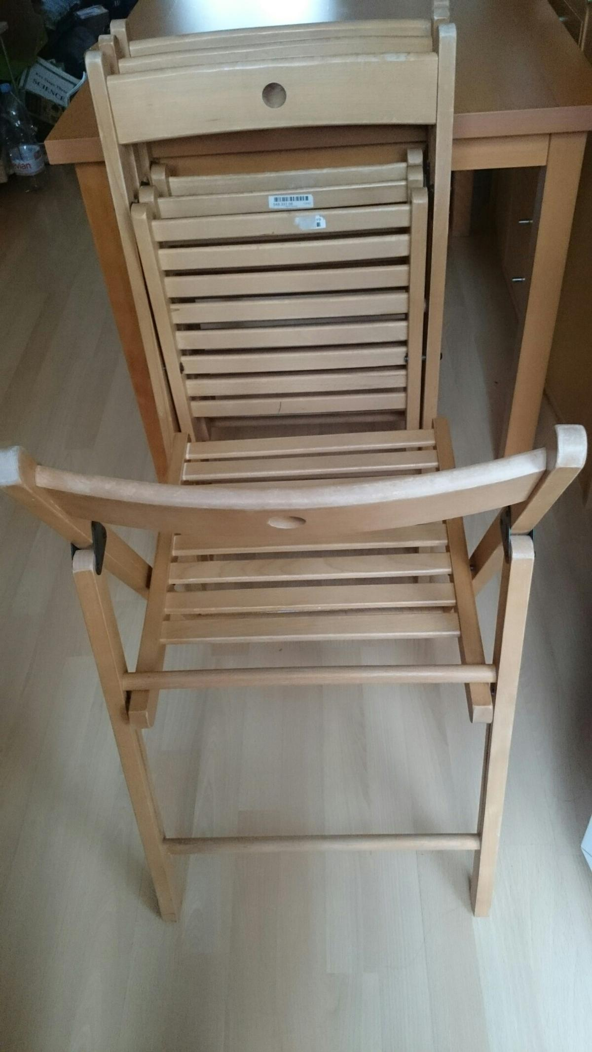 4 X Ikea Terje Strong Wood Folding Chairs In Cm7 Braintree For 24 00 For Sale Shpock