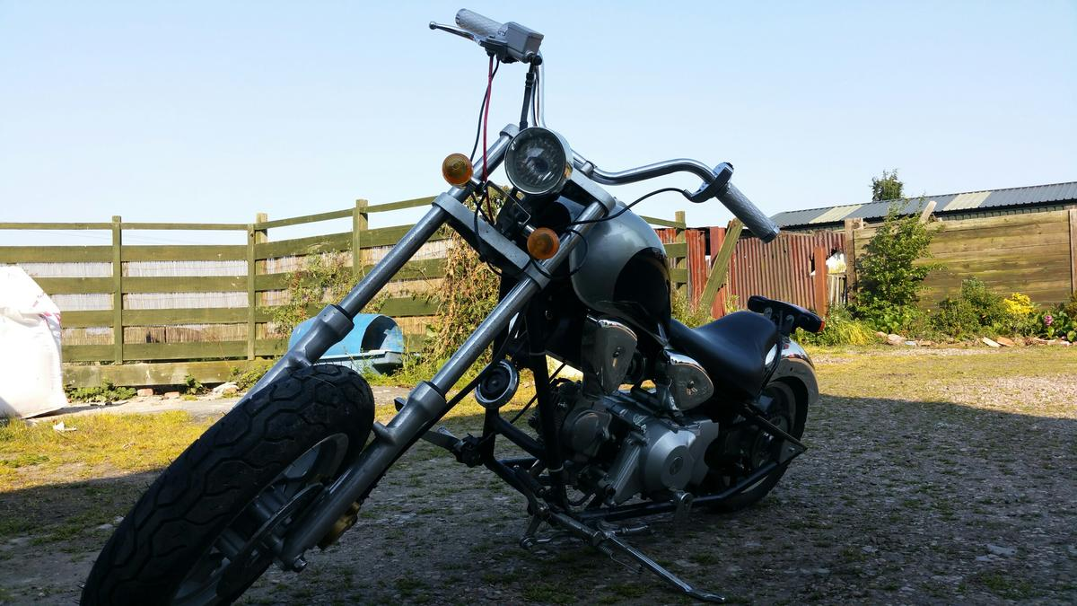 Mini Harley davidson 50cc Geared Chopper in West Lindsey for £240 00