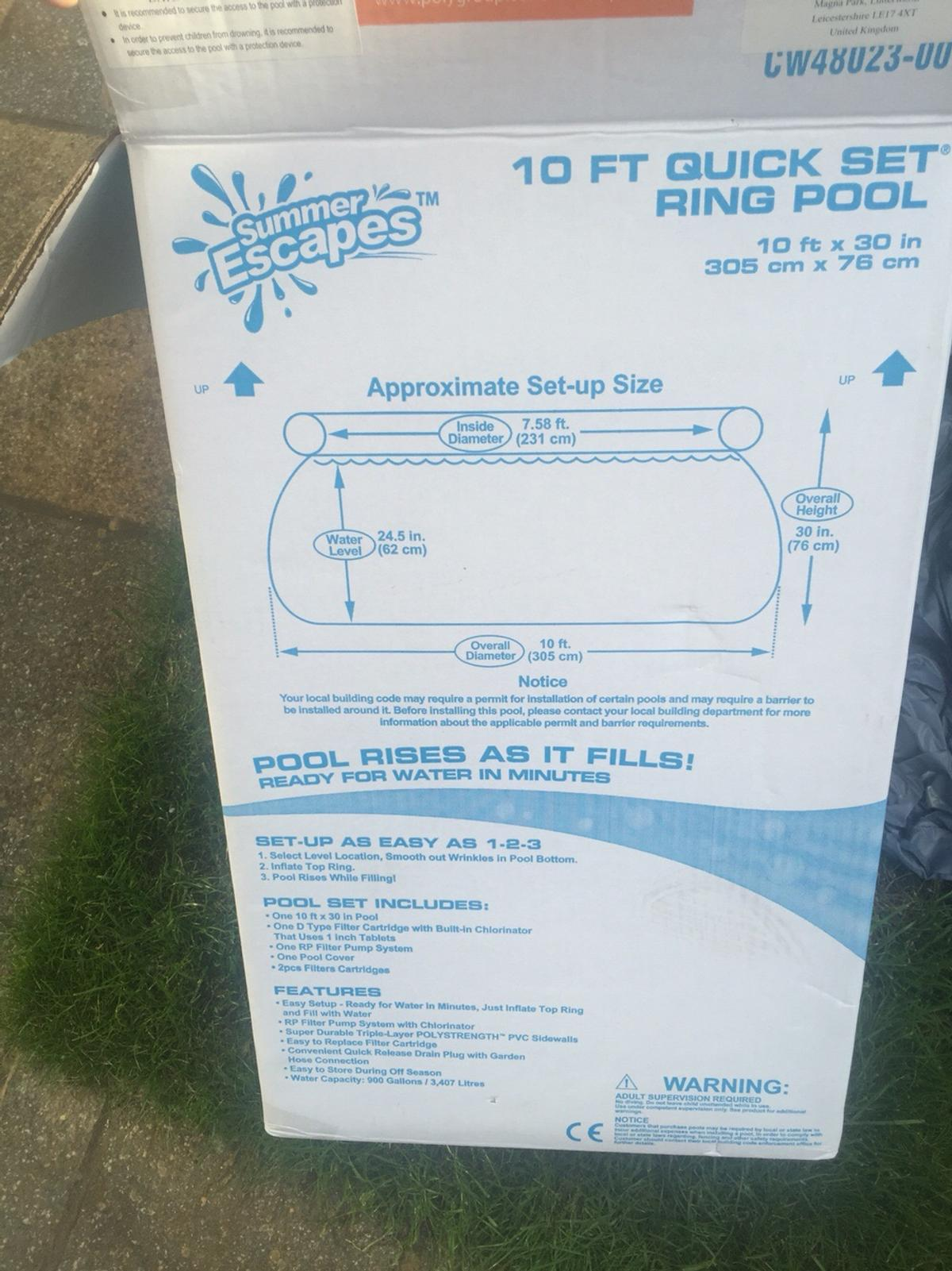 Swimming Pool, Cover, Filter and Heater in Colnbrook with