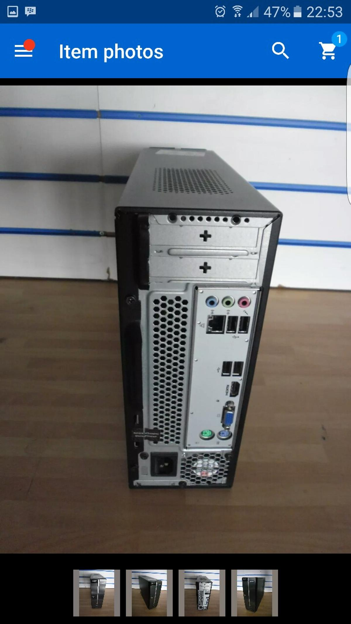 Acer Aspire Xc100 Small Form Factor Pc In Tf7 Madeley Fur 90 00 Zum Verkauf Shpock At