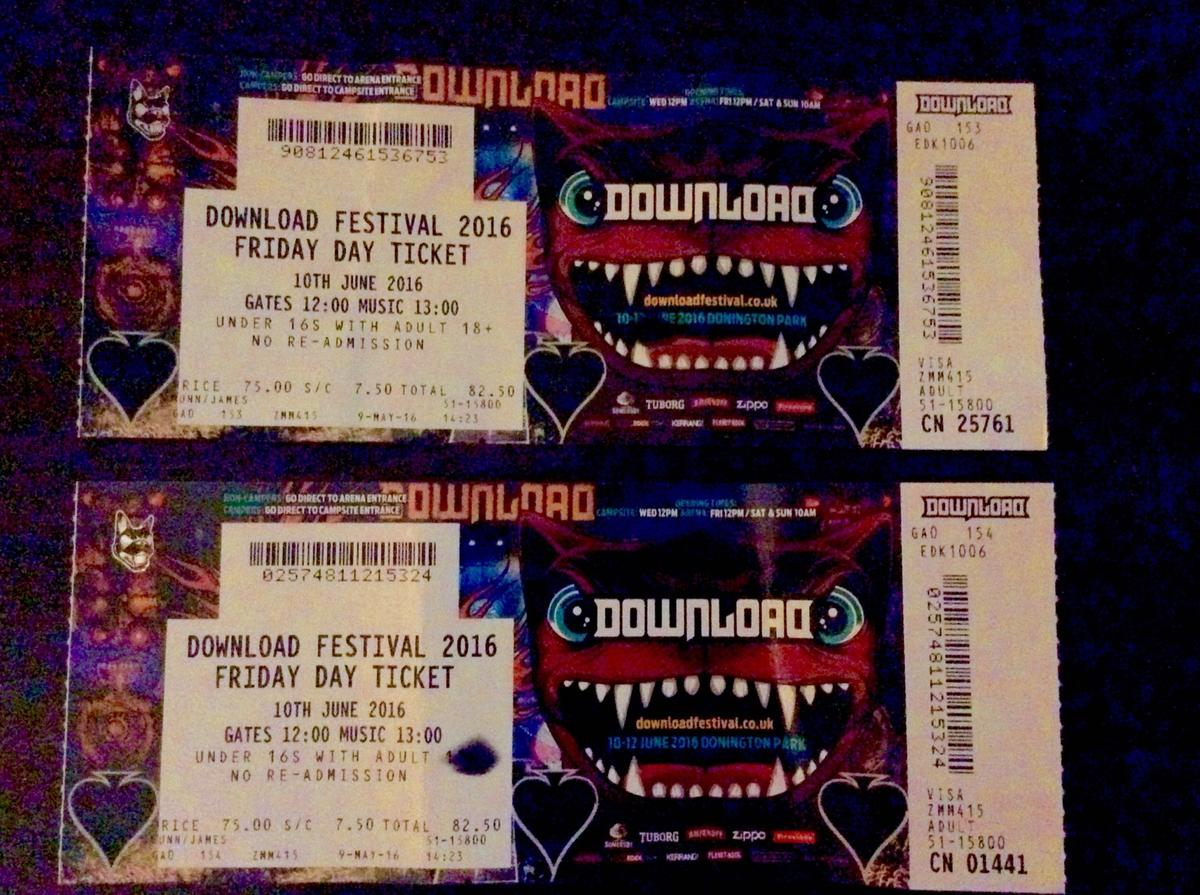 SOLD - 2 x Tickets - DOWNLOAD FESTIVAL