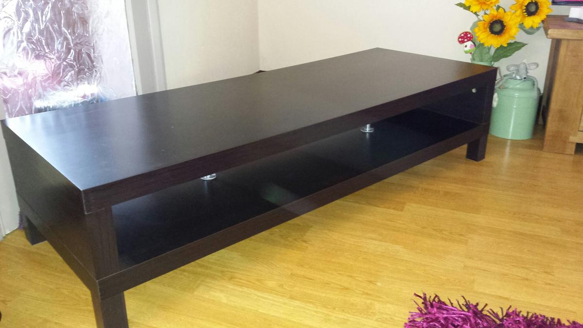 Astounding Ikea Lack Long Tv Unit Brown Black Ocoug Best Dining Table And Chair Ideas Images Ocougorg