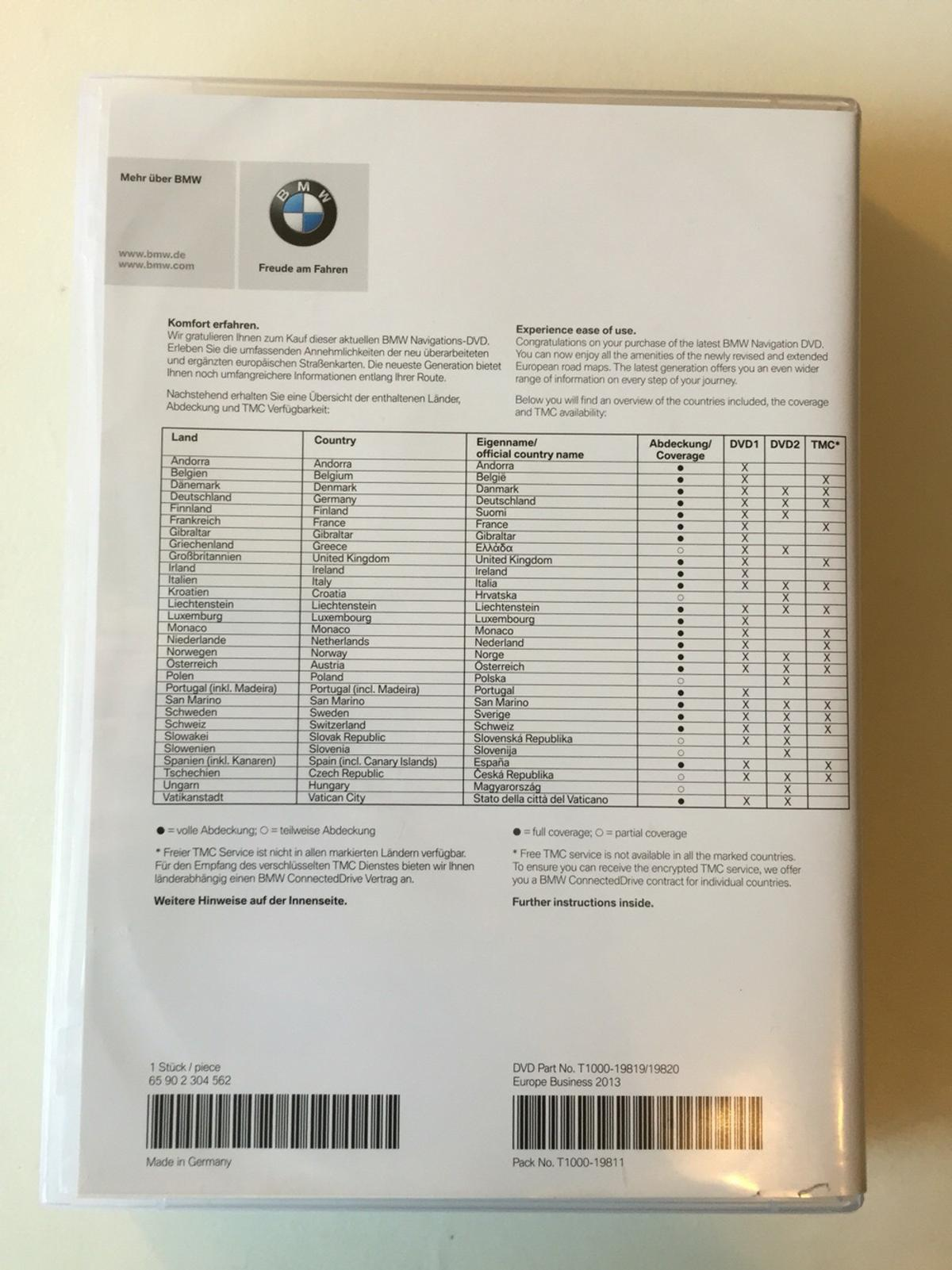 BMW DVD Road Map Europe Navi Business 2013 in 88250 ...