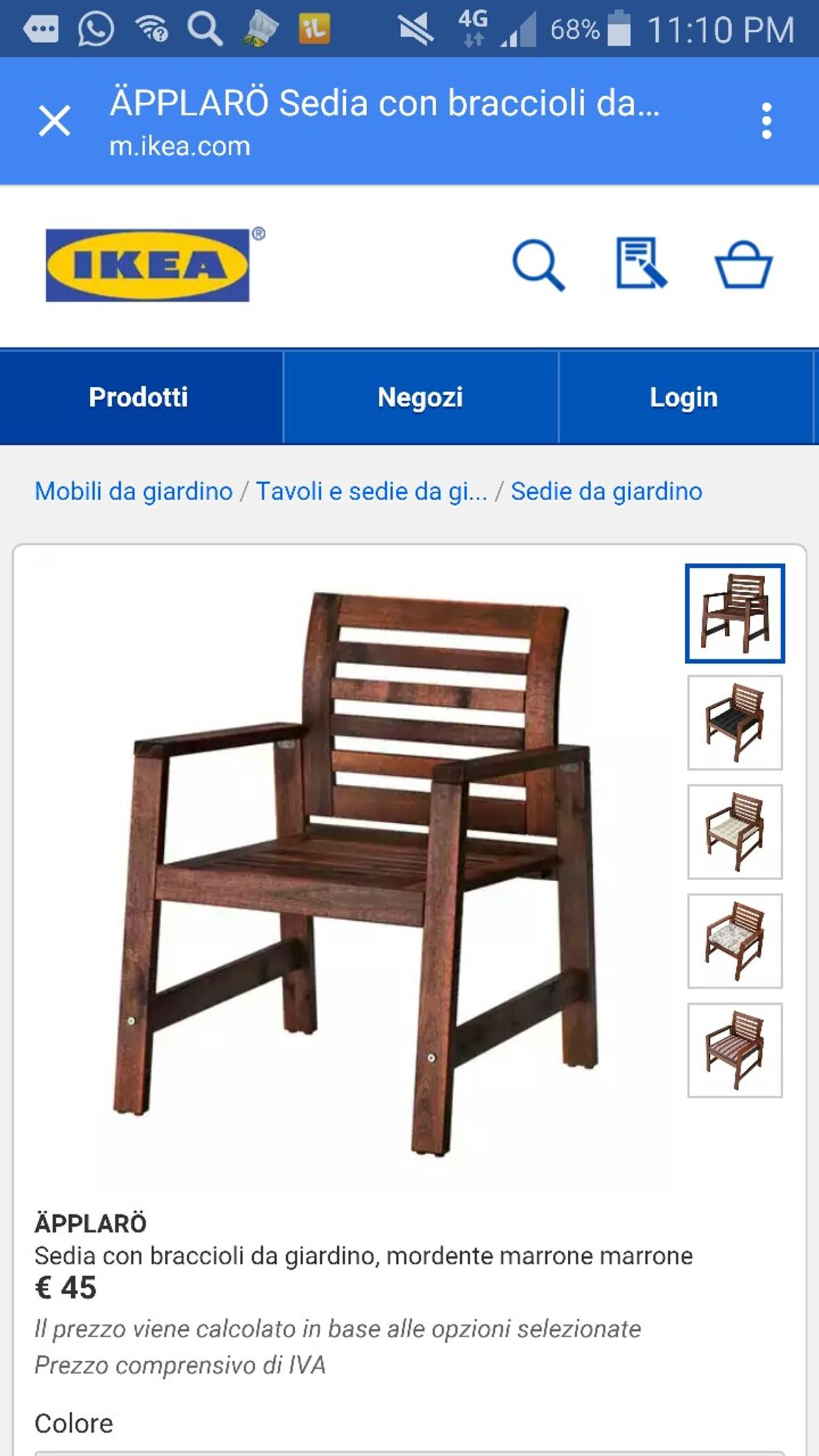 Sedie Da Giardino Ikea 2019.2 Sedie Da Giardino Ikea Applaro In 20090 Vimodrone For 25 00 For