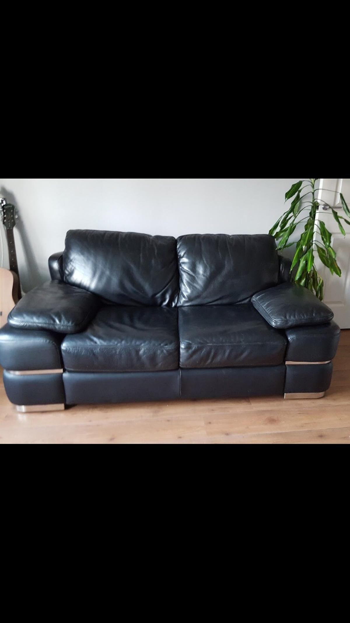 Designer leather sofa and chair
