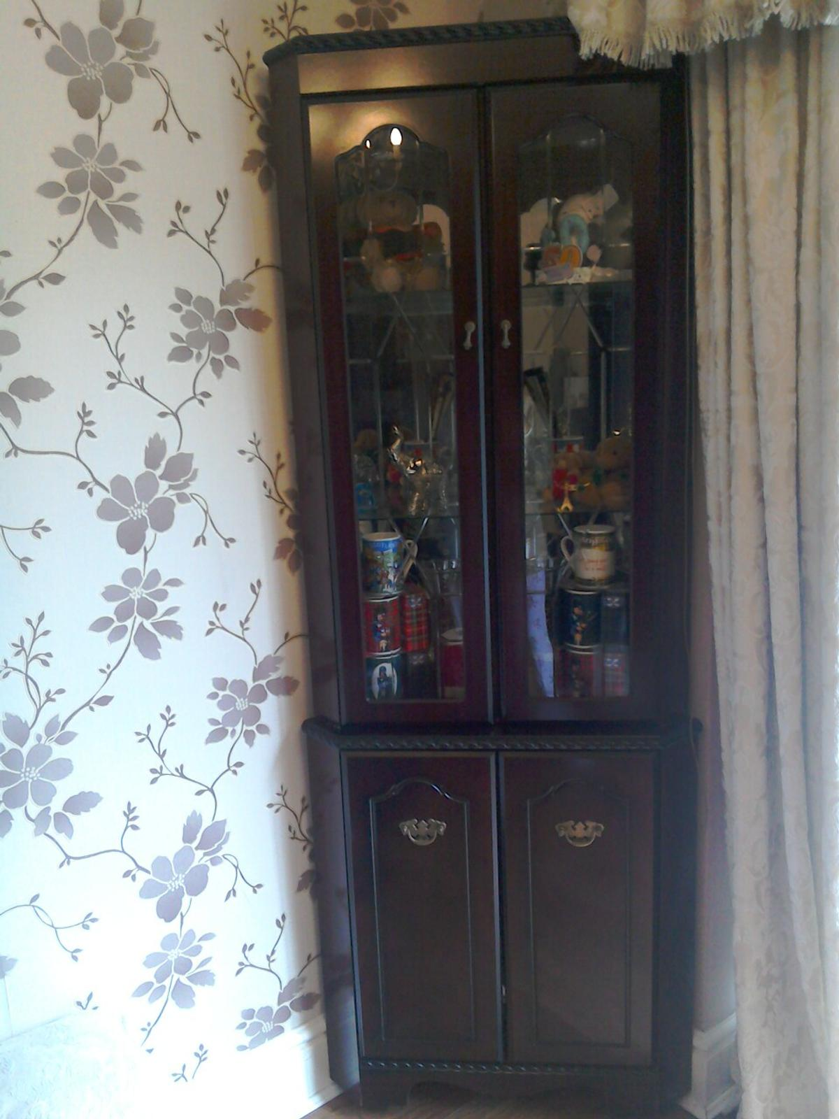 Mahogany Display Cabinets With Lights Inside In M21 ...